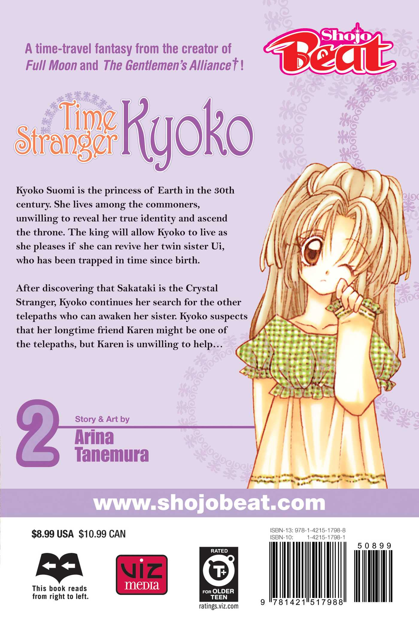 Time stranger kyoko vol 2 9781421517988 hr back
