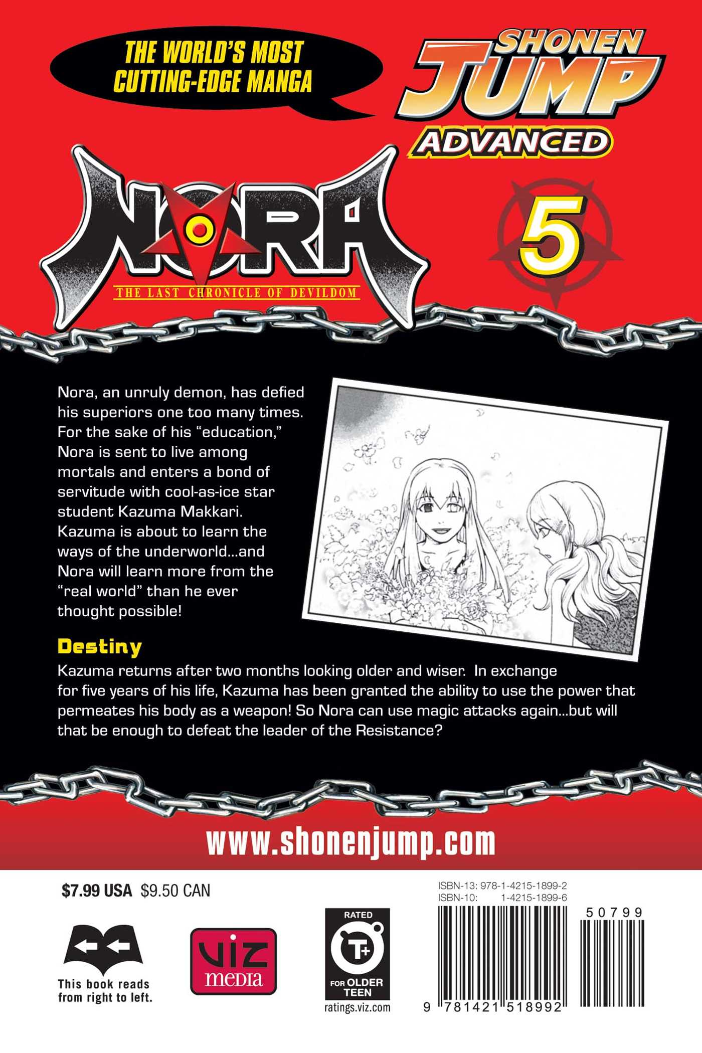 Nora the last chronicle of devildom vol 5 9781421518992 hr back