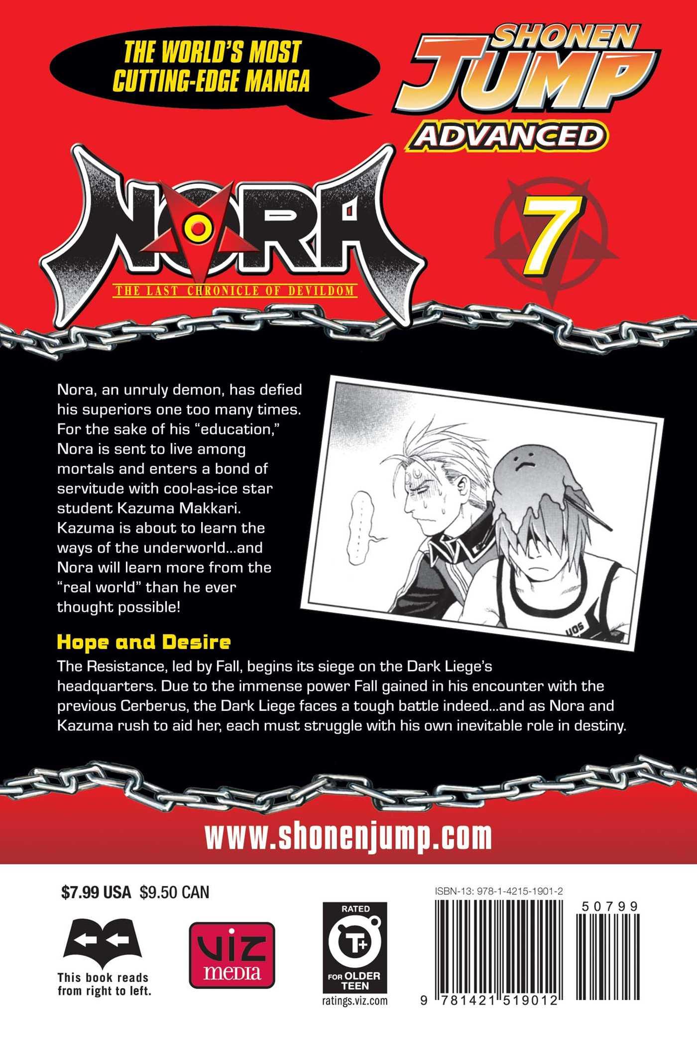 Nora the last chronicle of devildom vol 7 9781421519012 hr back