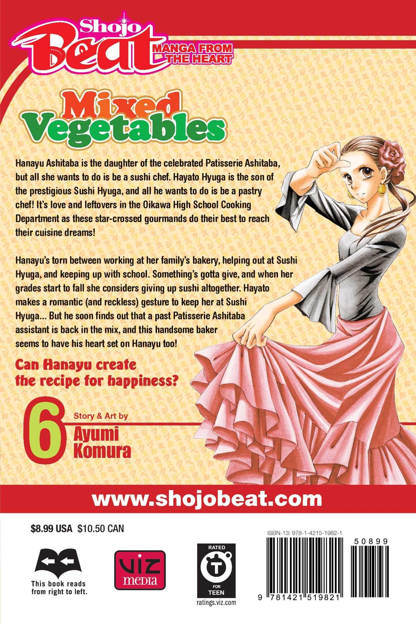 Mixed vegetables vol 6 9781421519821 hr back