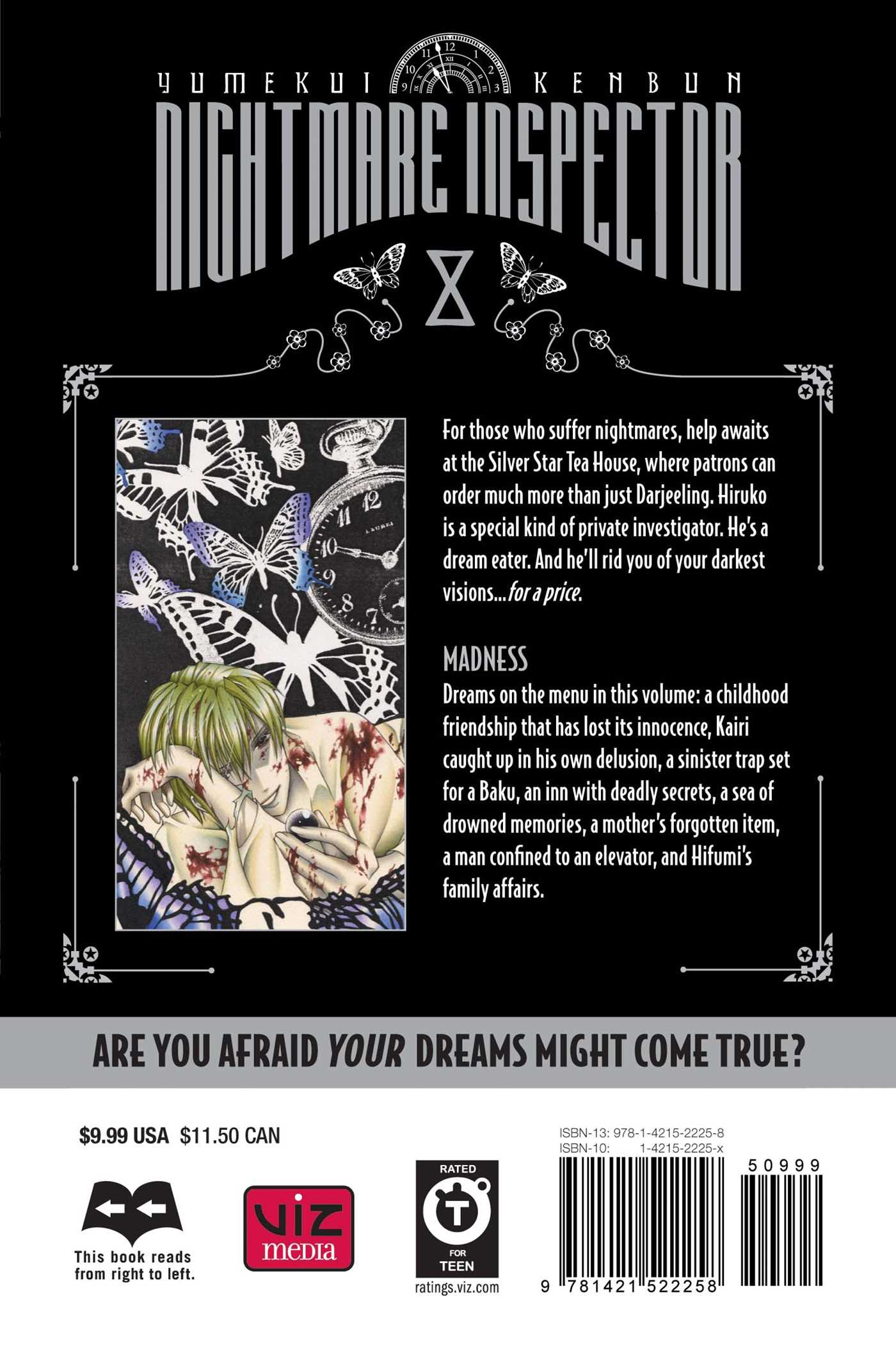 Nightmare inspector yumekui kenbun vol 8 9781421522258 hr back