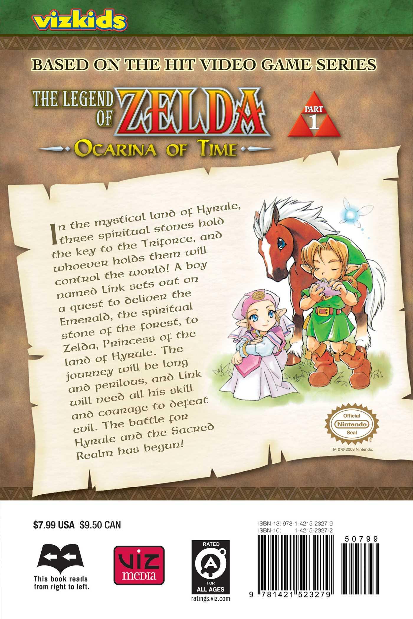 The legend of zelda vol 1 9781421523279 hr back