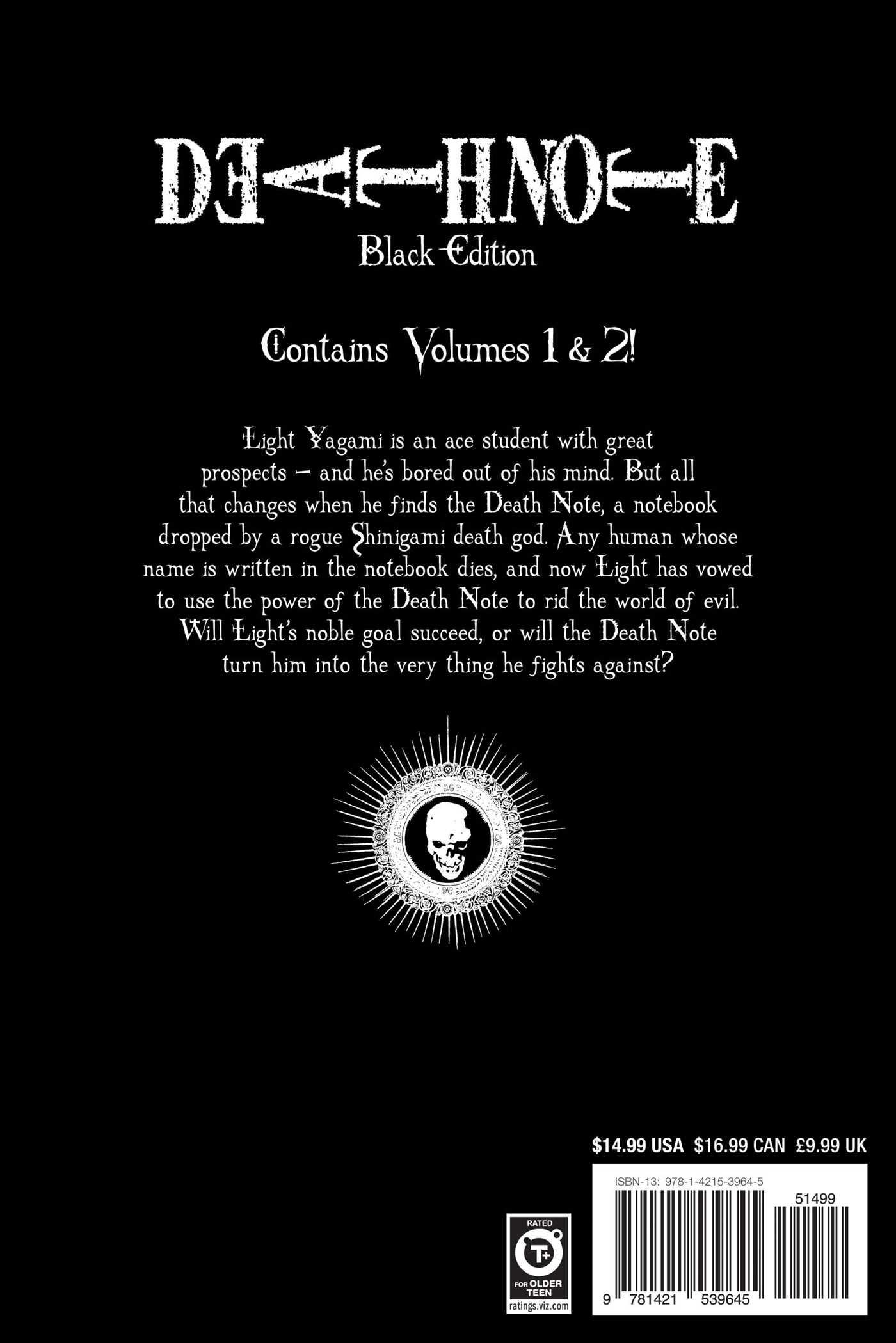 Death note black edition vol 1 9781421539645 hr back