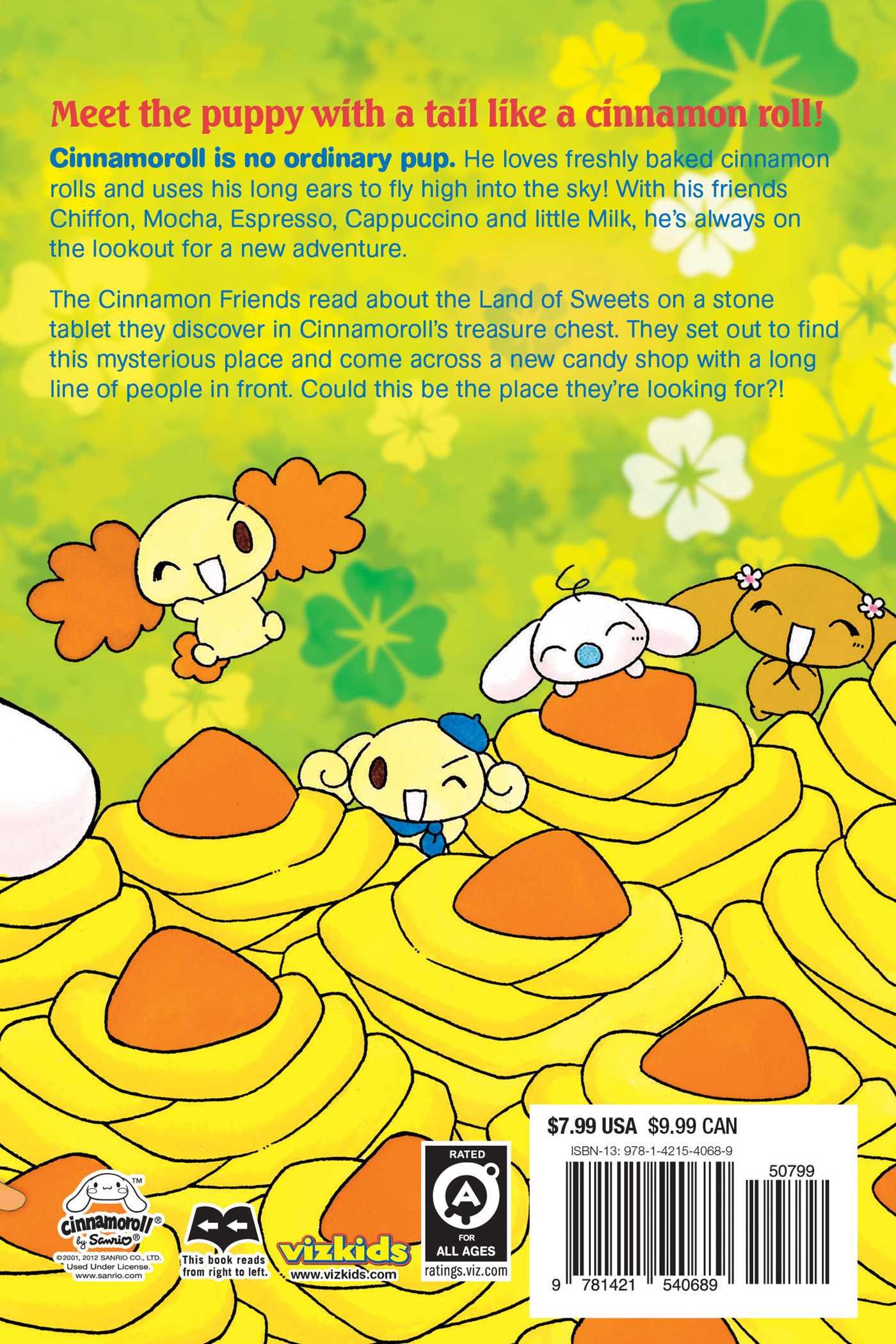 Fluffy fluffy cinnamoroll vol 3 9781421540689 hr back