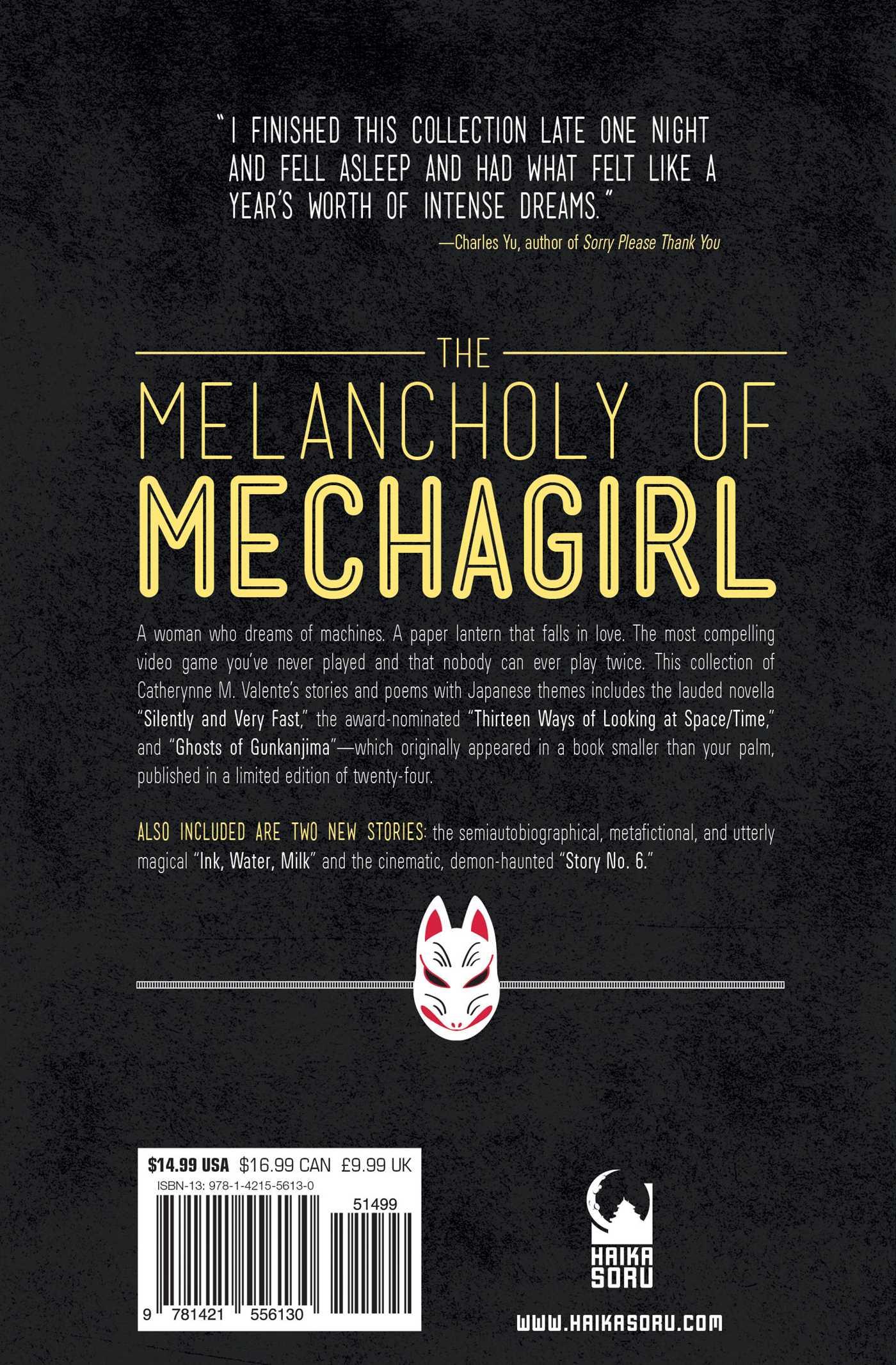 The melancholy of mechagirl 9781421556130 hr back