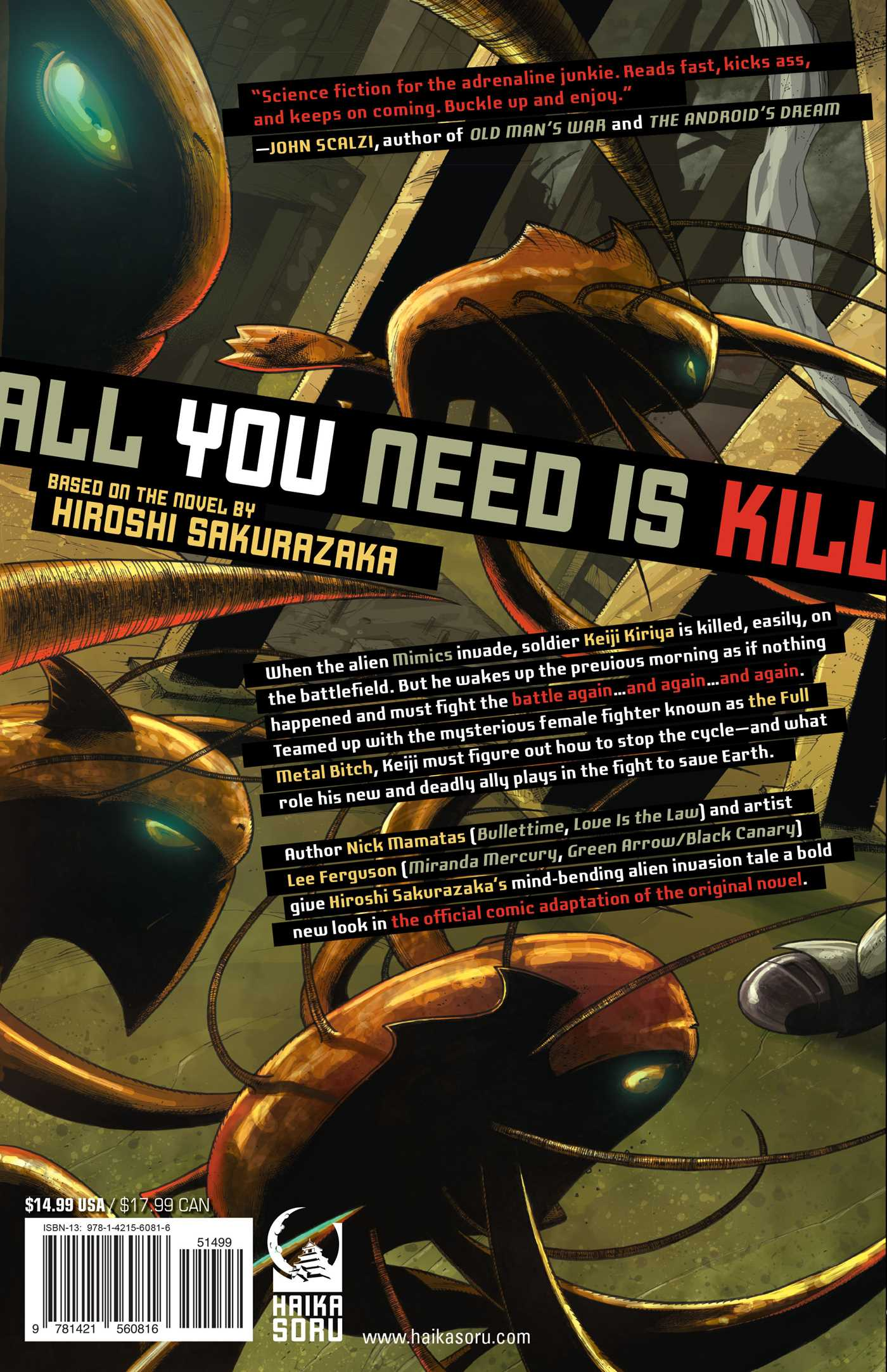 All you need is kill graphic novel 9781421560816 hr back