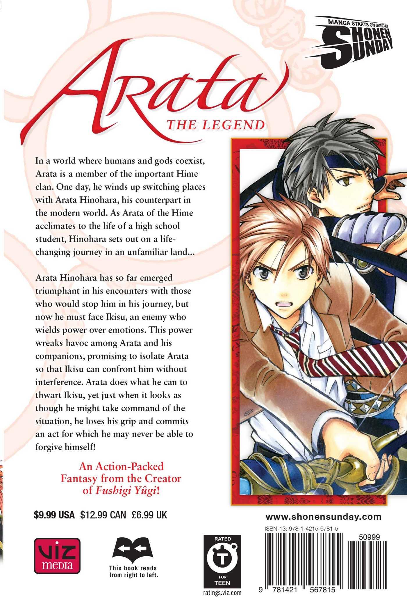 Arata the legend vol 21 9781421567815 hr back