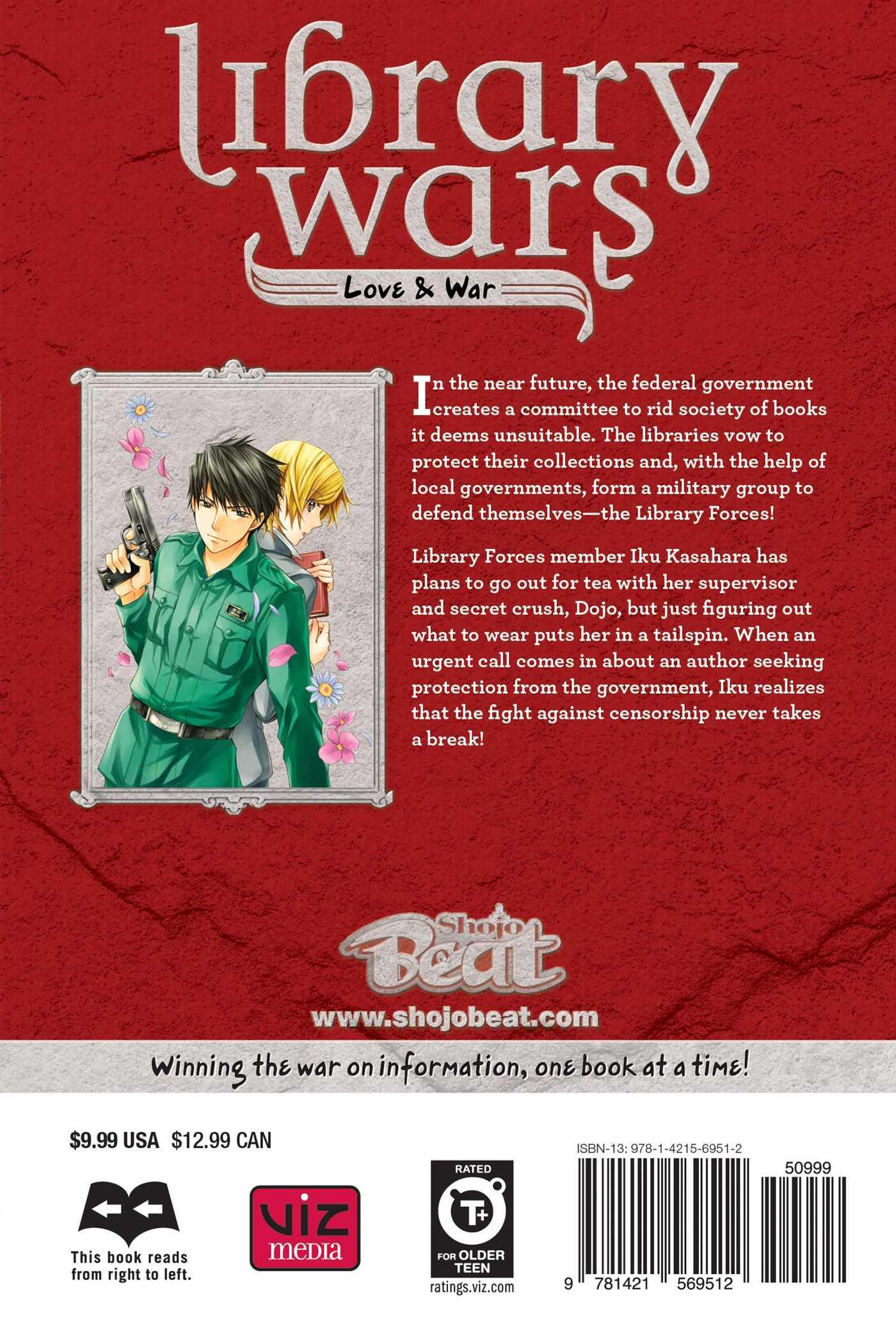 Library wars love war vol 12 9781421569512 hr back