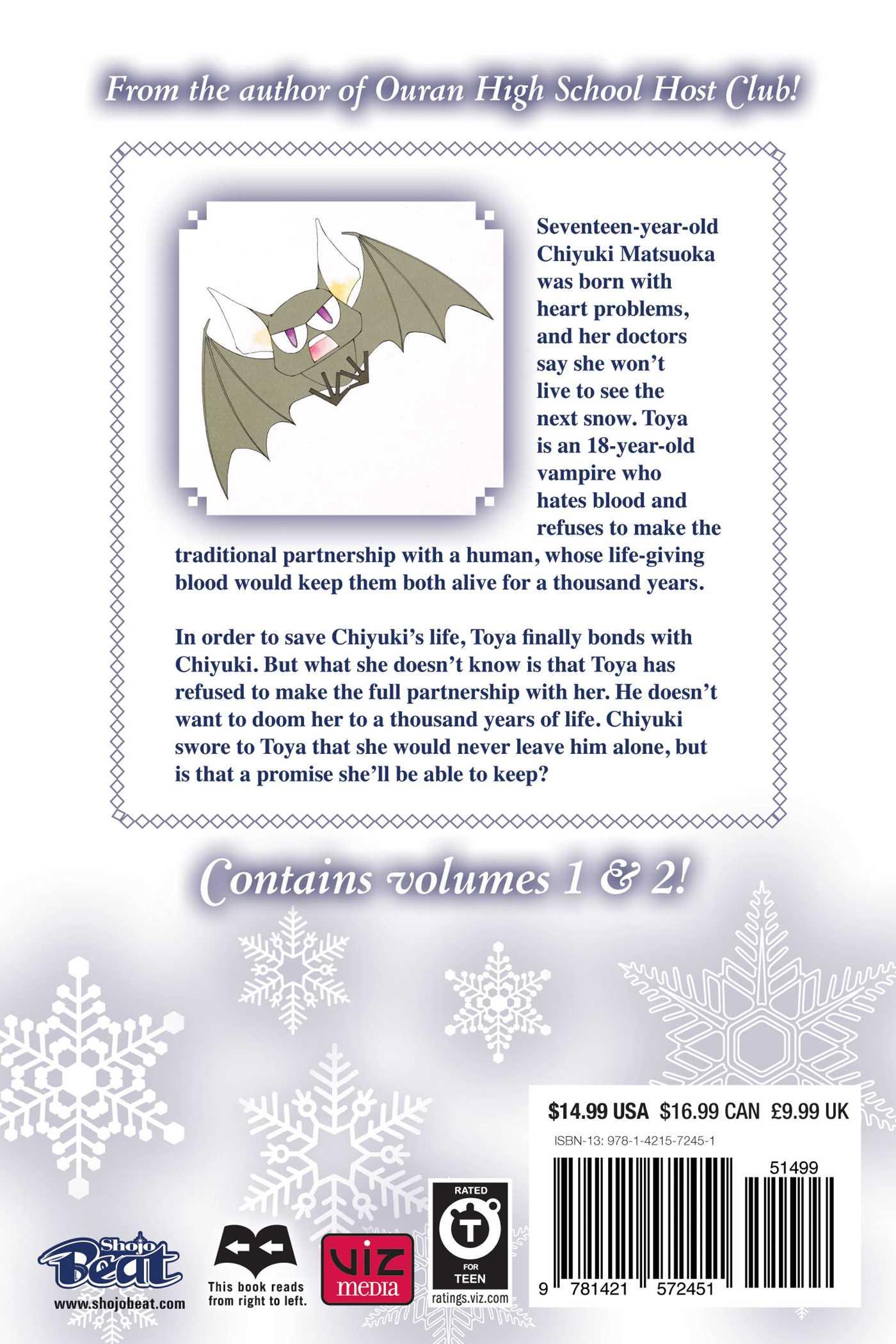Millennium snow 2 in 1 vol 1 9781421572451 hr back