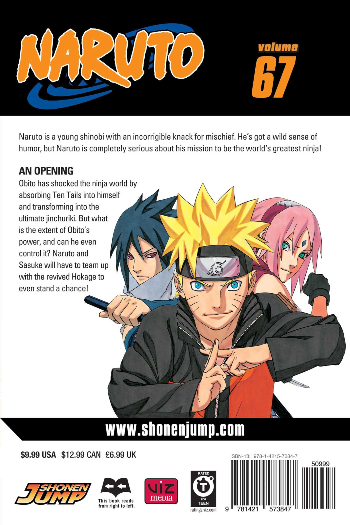 Naruto vol 67 9781421573847 hr back
