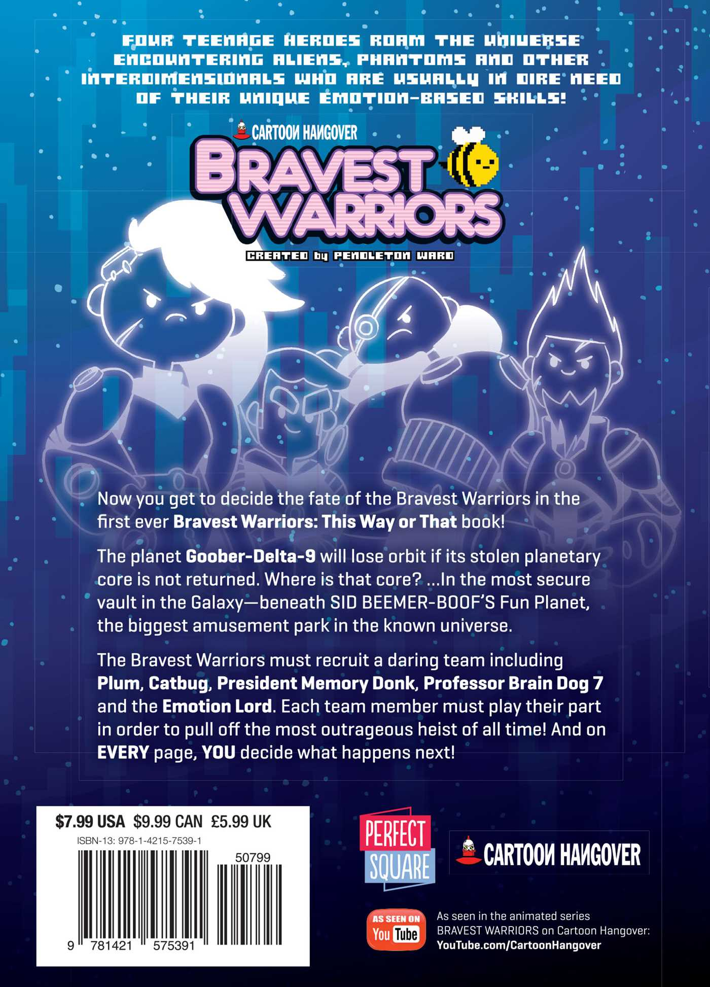 Bravest warriors the great core caper 9781421575391 hr back