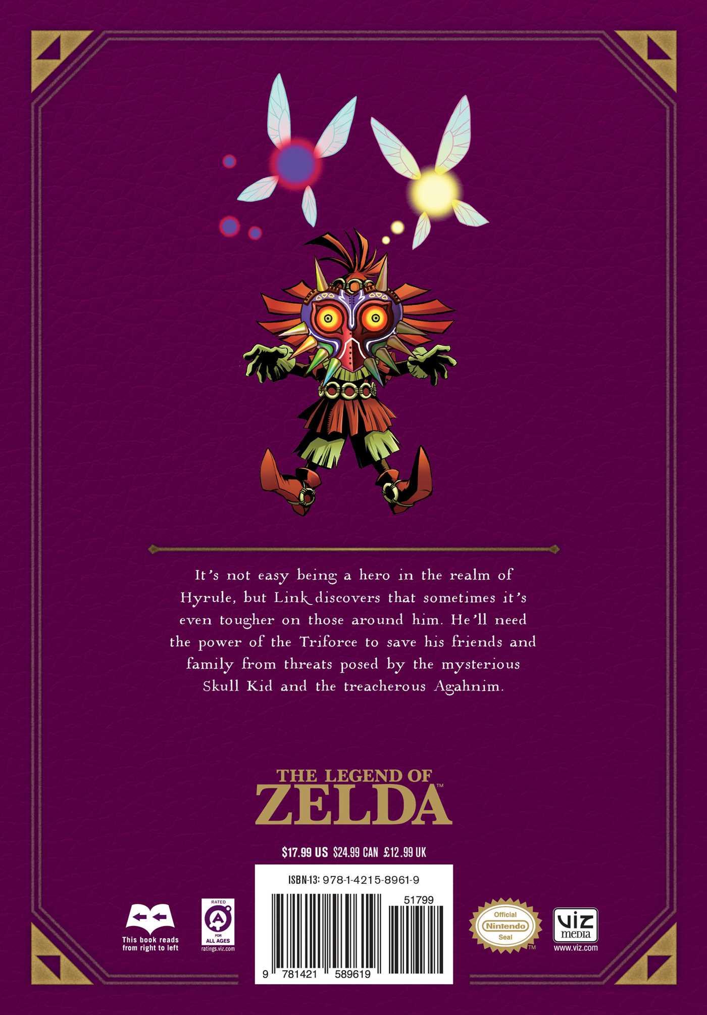 The legend of zelda legendary edition vol 3 9781421589619 hr back
