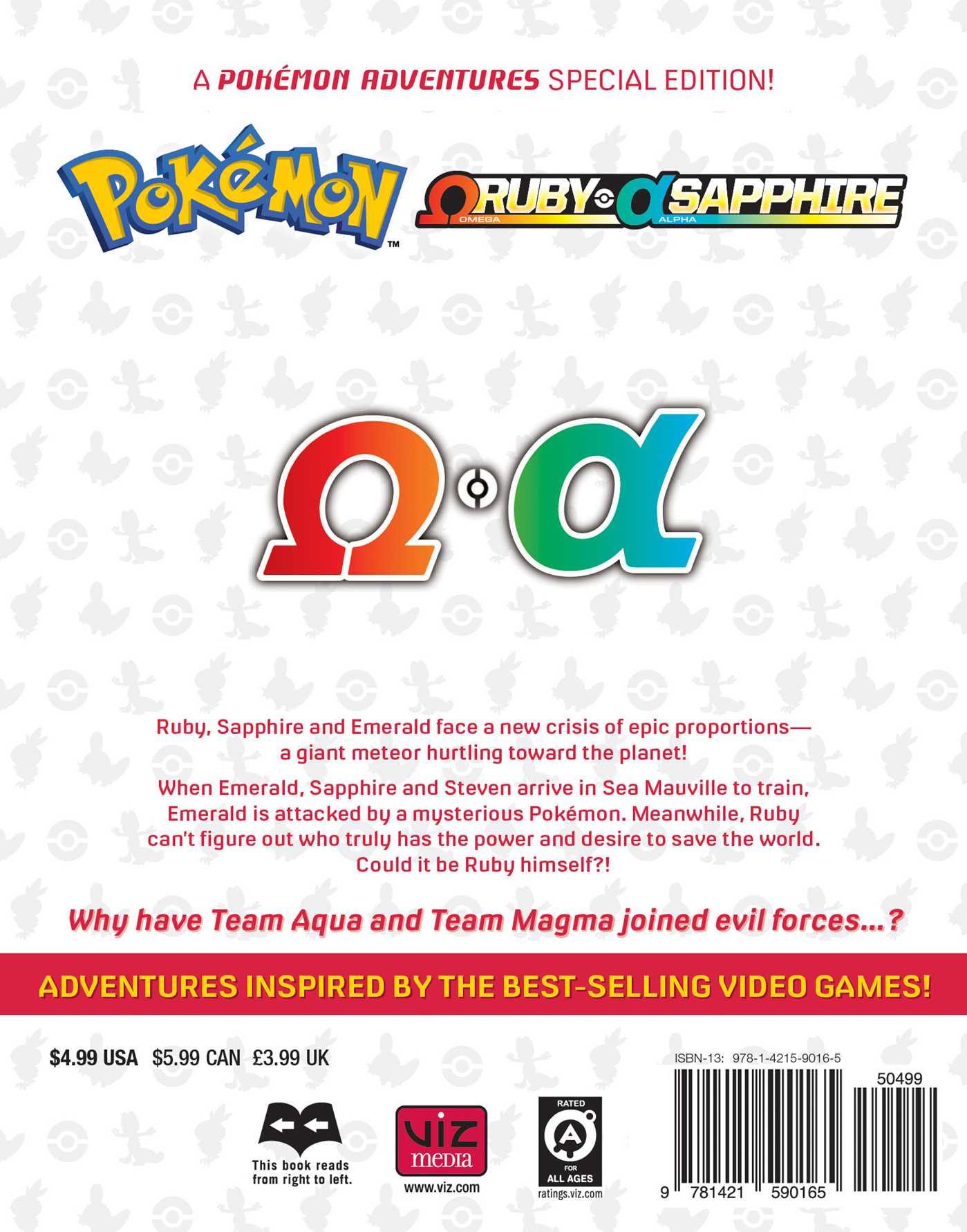 Pokemon omega ruby alpha sapphire vol 2 9781421590165 hr back