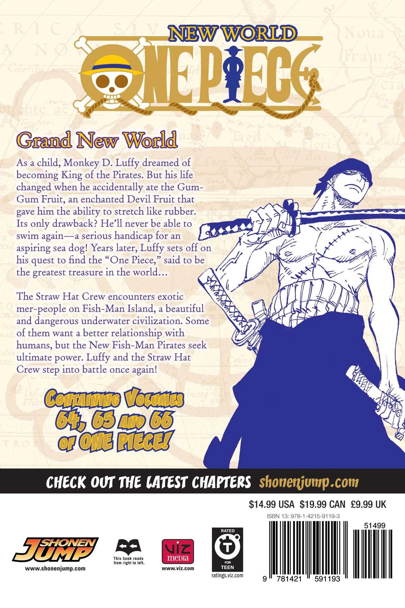 One Piece Omnibus Edition Vol 22 9781421591193 Hr Back