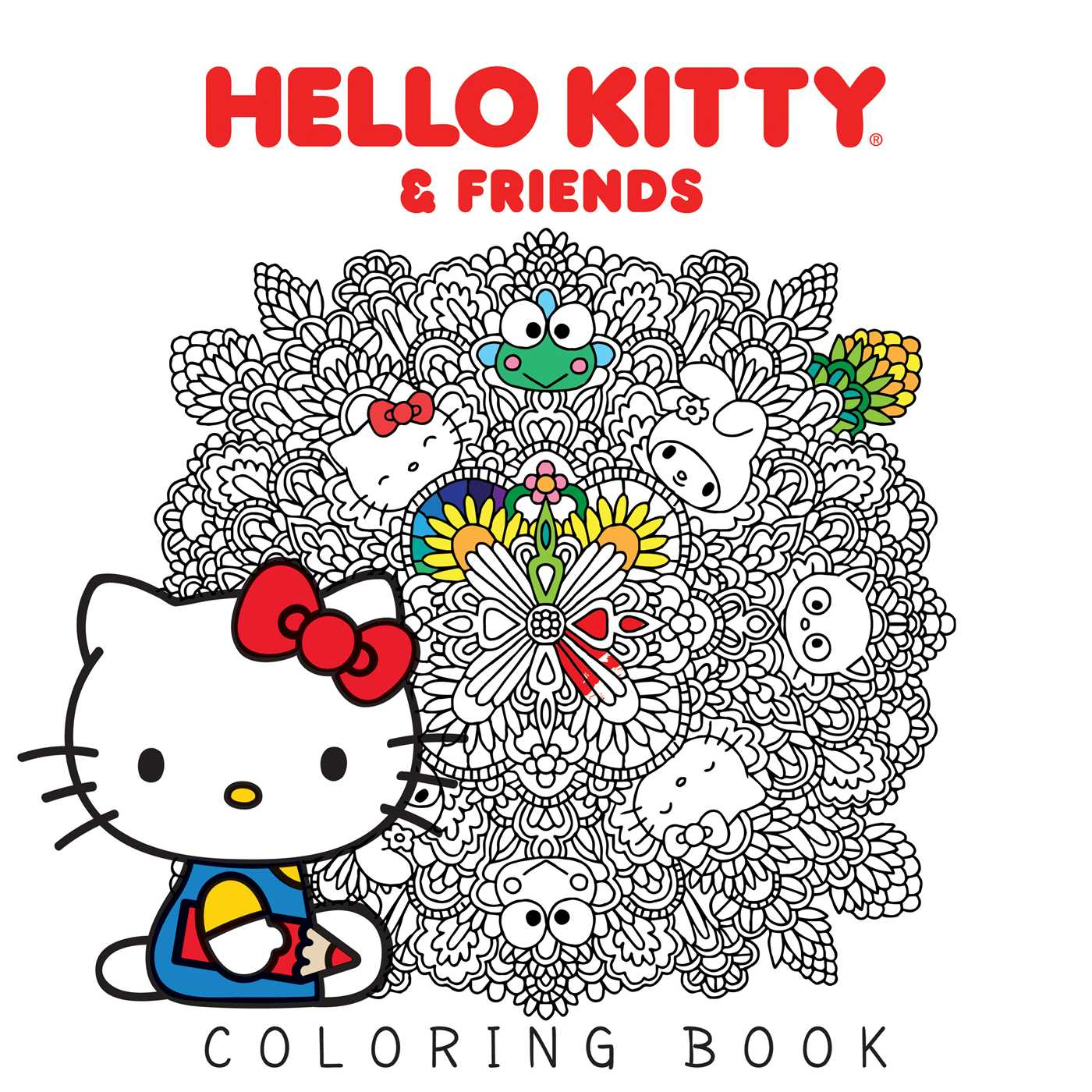 hello kitty friends coloring book book by various official
