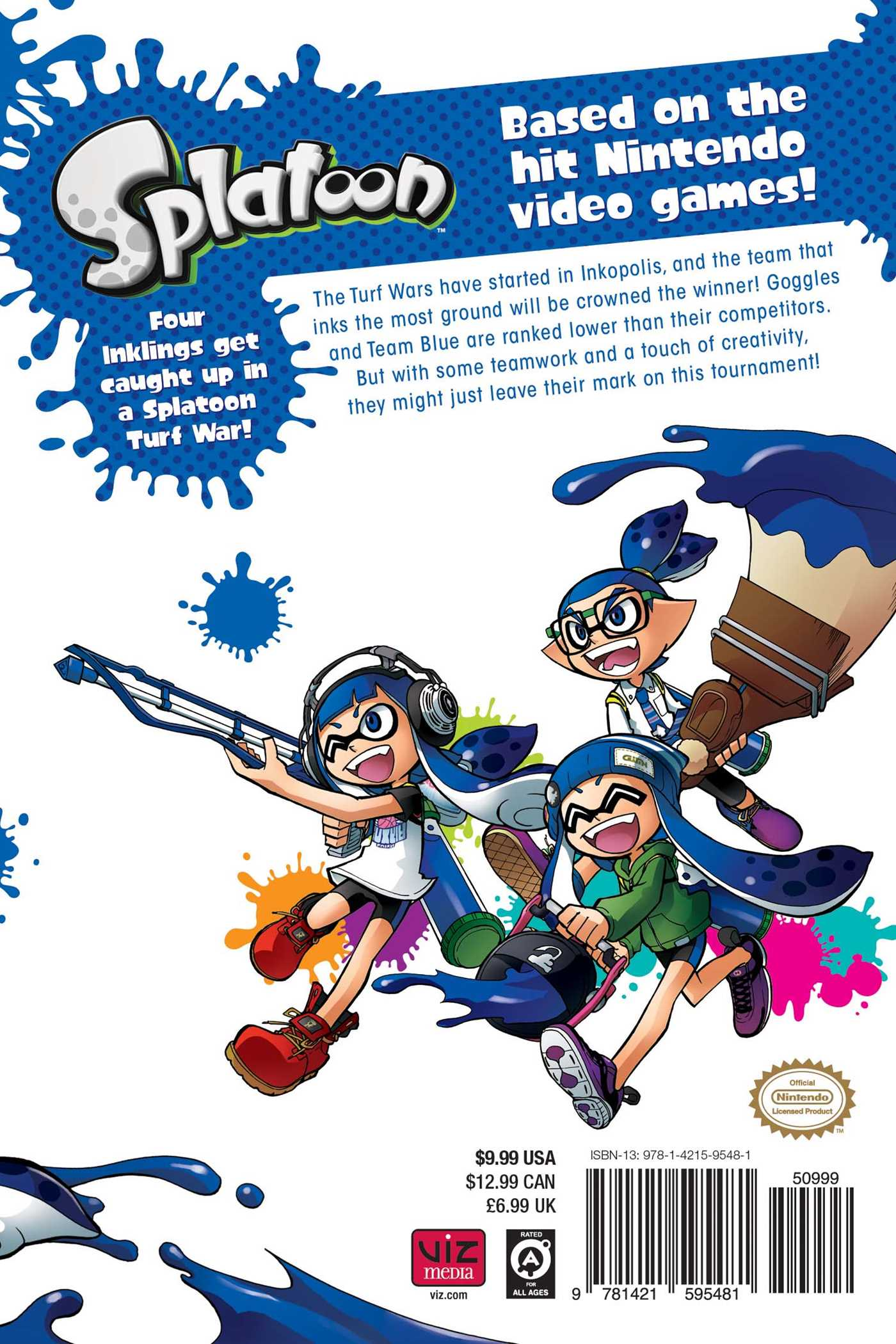 Splatoon vol 1 9781421595481 hr back