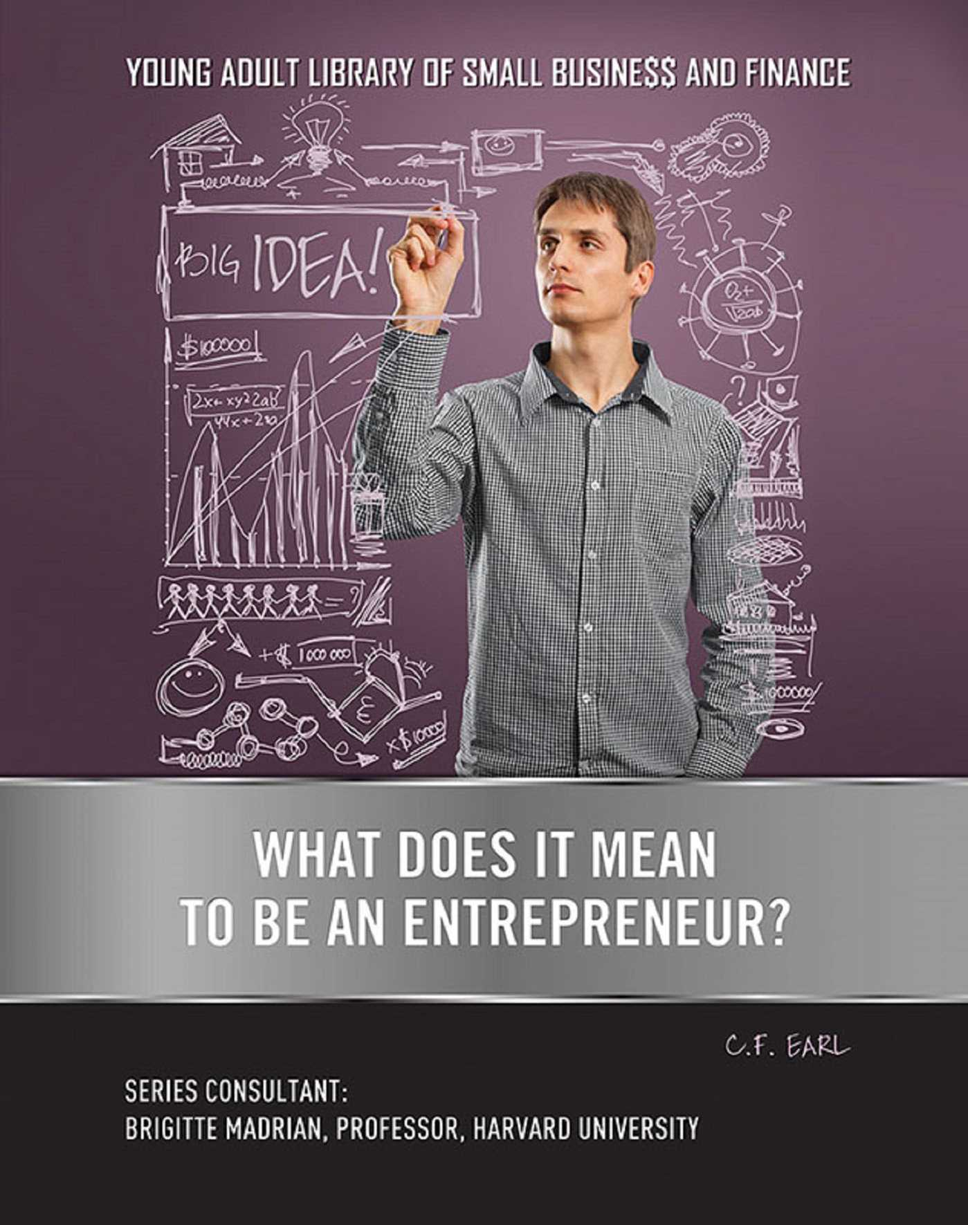 What does it mean to be an entrepreneur 9781422289129 hr