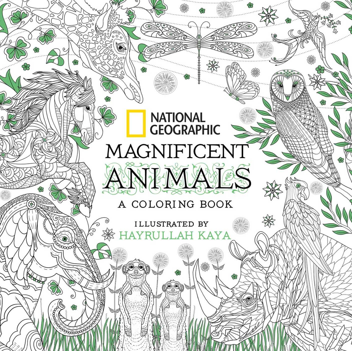 National Geographic Magnificent Animals Coloring Book