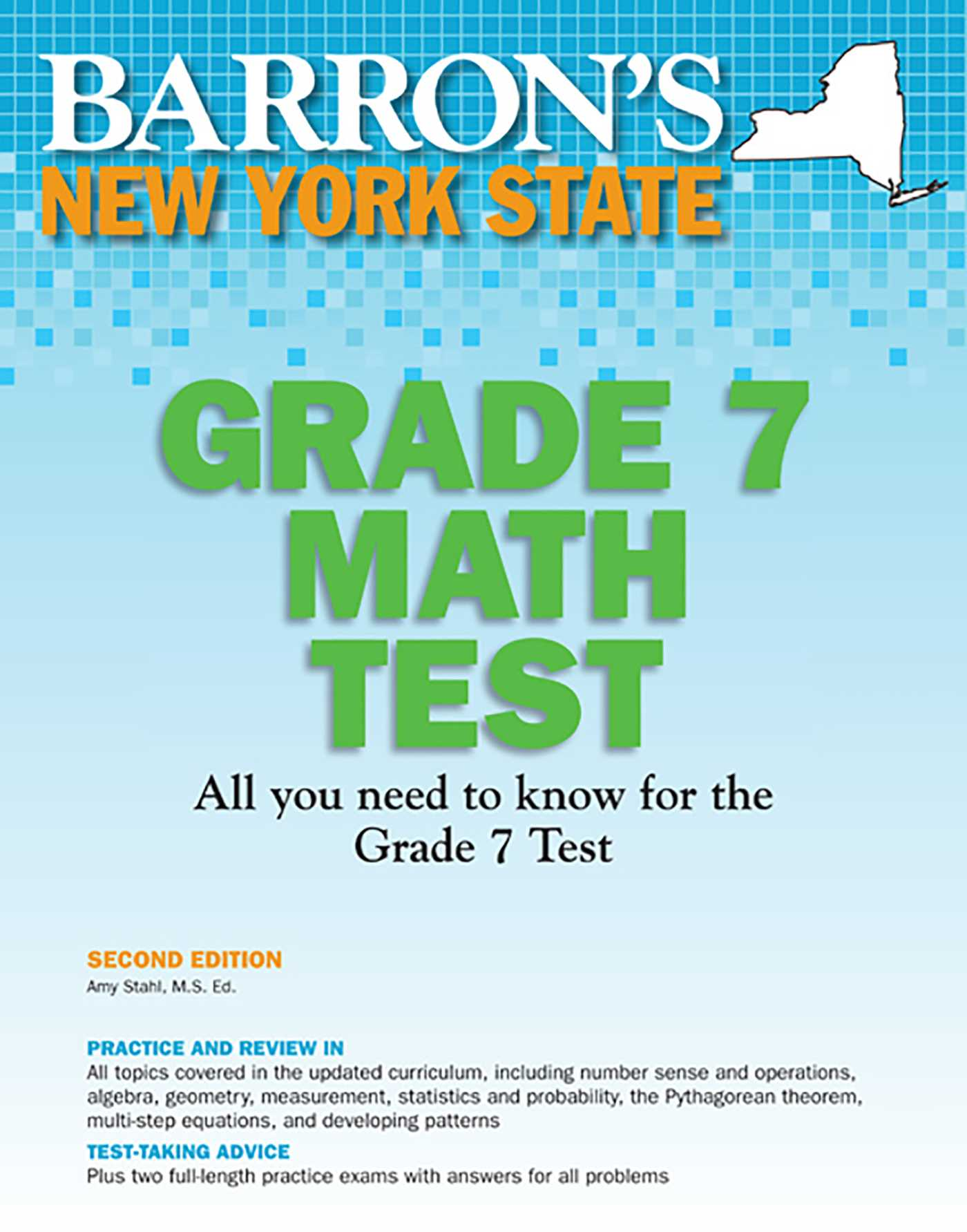 New York State Grade 7 Math Test | Book by Amy Stahl M S  Ed