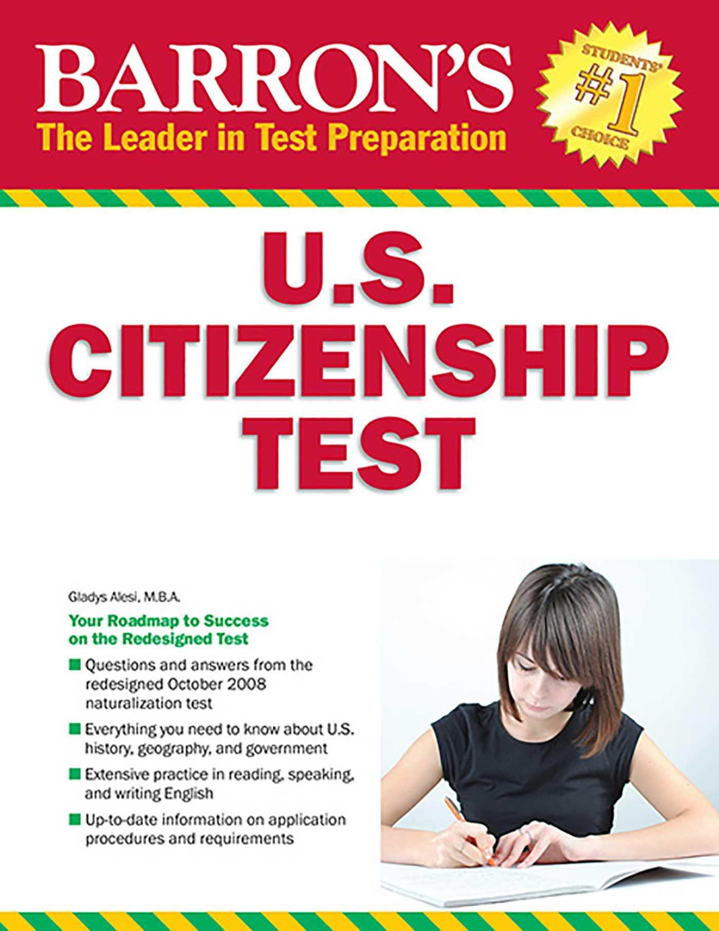 Barron's U S  Citizenship Test | Book by Gladys Alesi