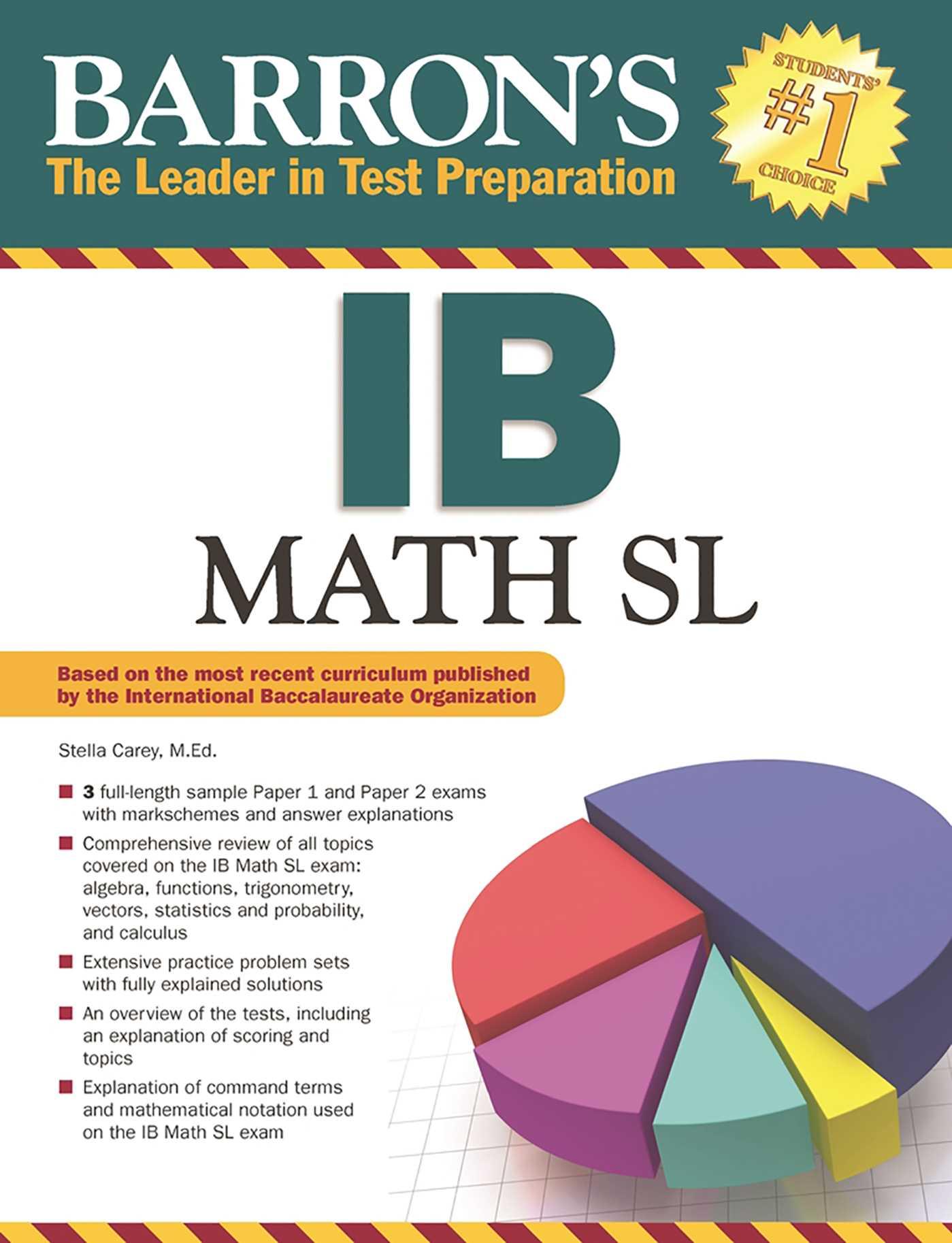 Barron's IB Math SL | Book by Stella Carey M Ed  | Official