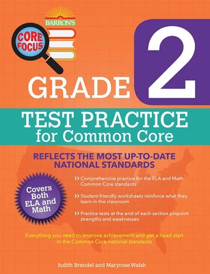 Barrons Core Focus Grade 2 Test Practice For Common Core Book By