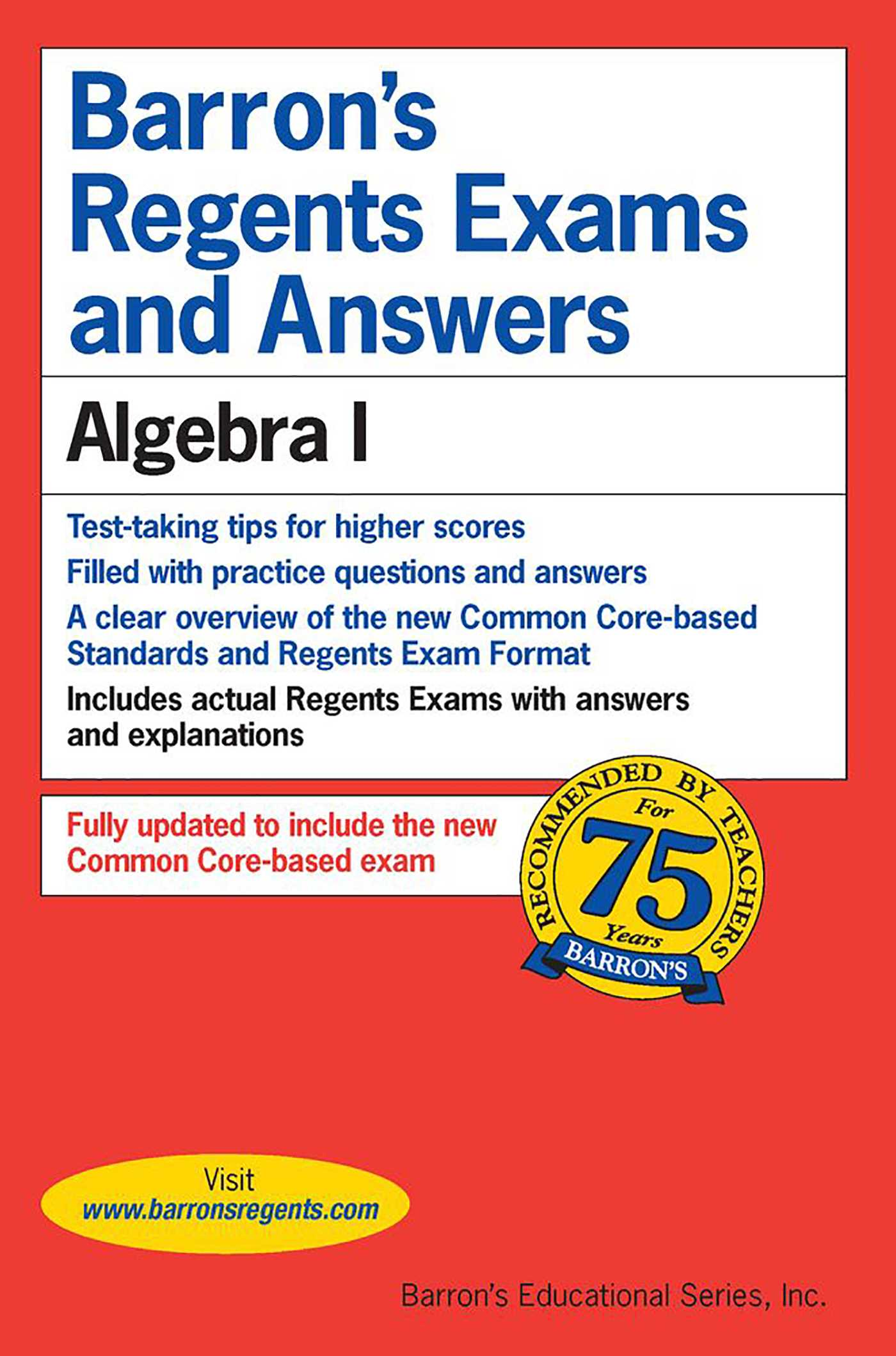 Regents Exams and Answers: Algebra I | Book by Gary M