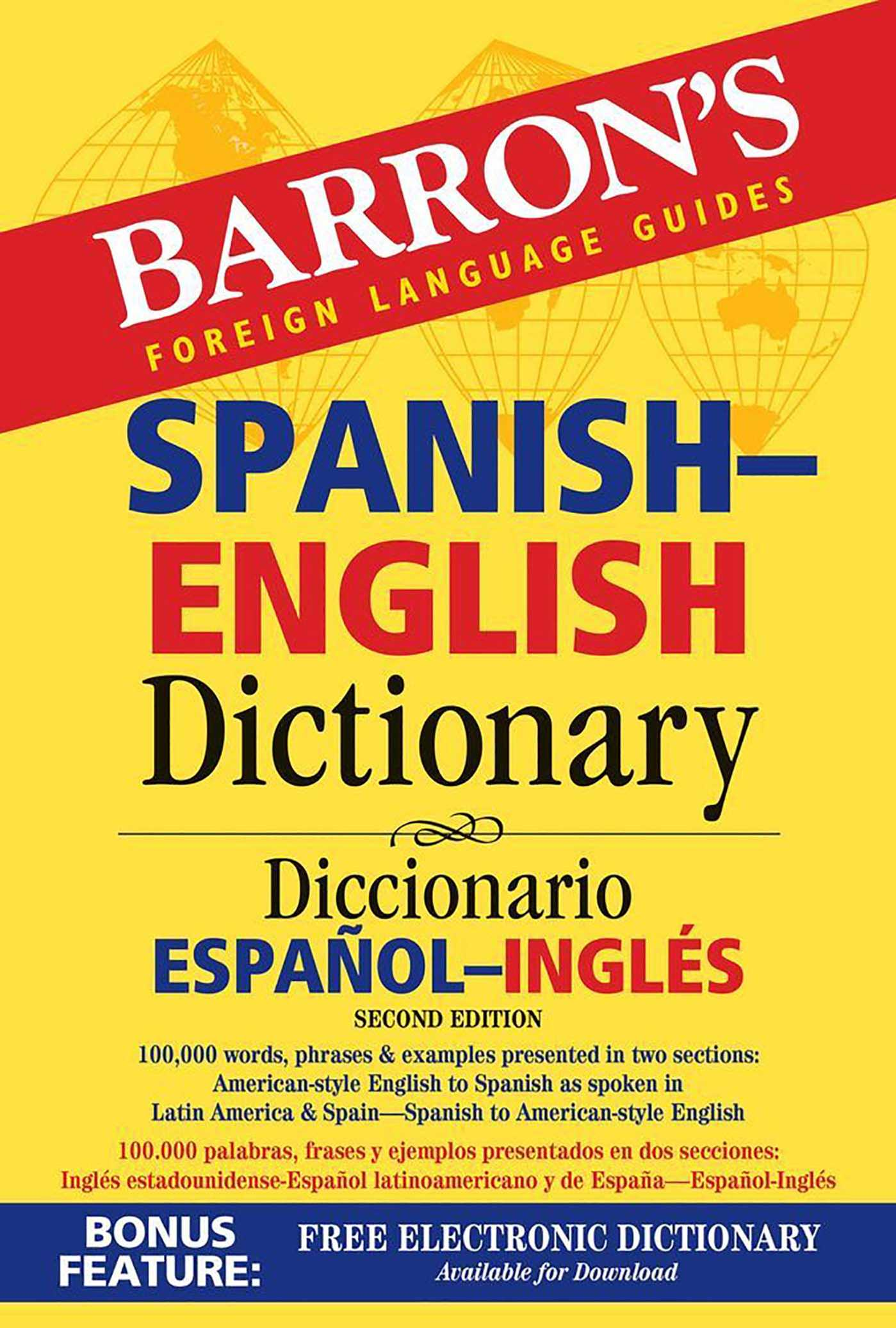 Barron's Spanish English Dictionary Book by Ursula