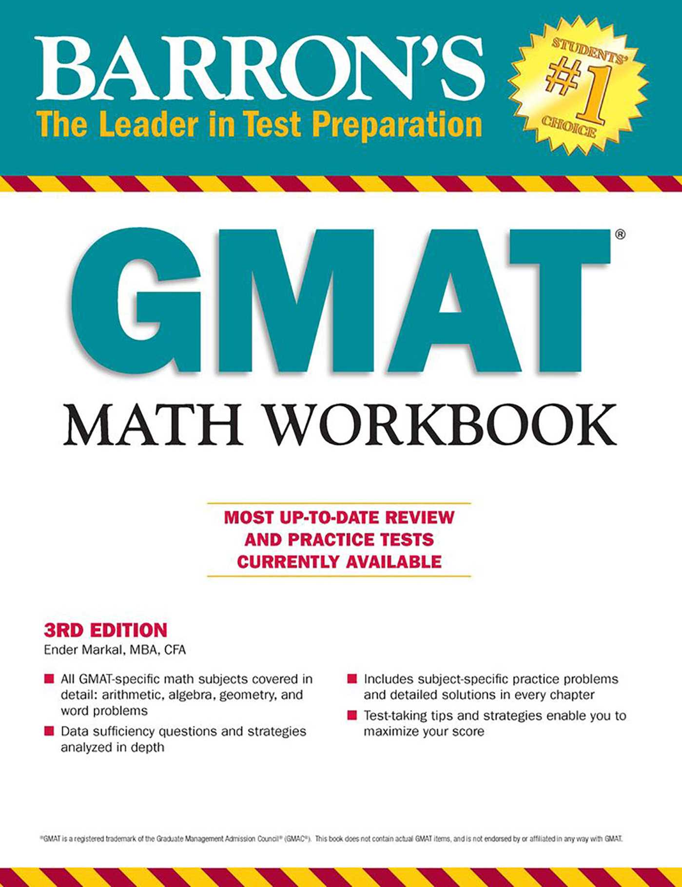 GMAT Math Workbook, 3rd Edition | Book by Ender Markal M.B.A. C.F.A ...