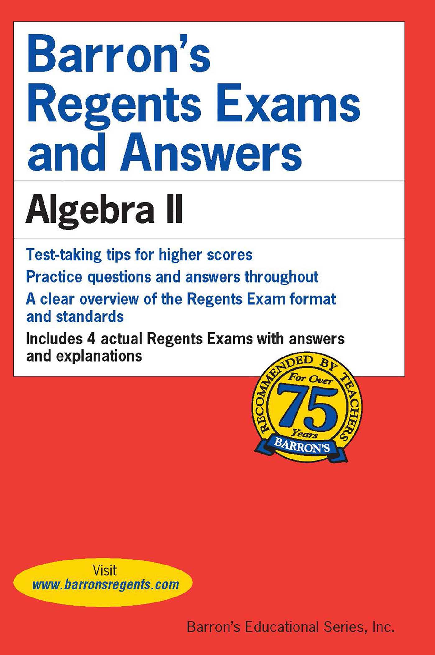 Barron's Regents Exams and Answers: Algebra II | Book by