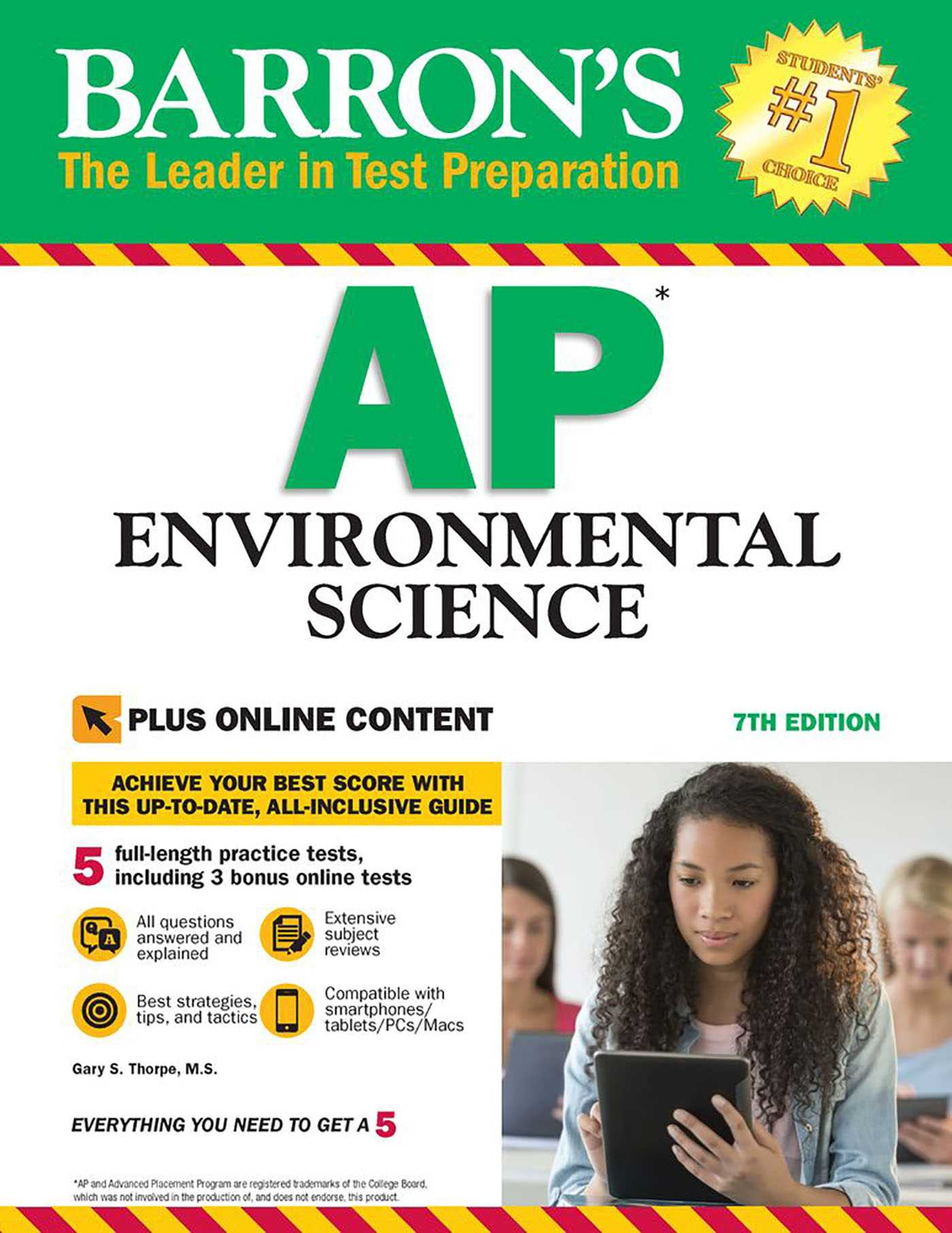Book Cover Image (jpg): Barron's AP Environmental Science with Online Tests