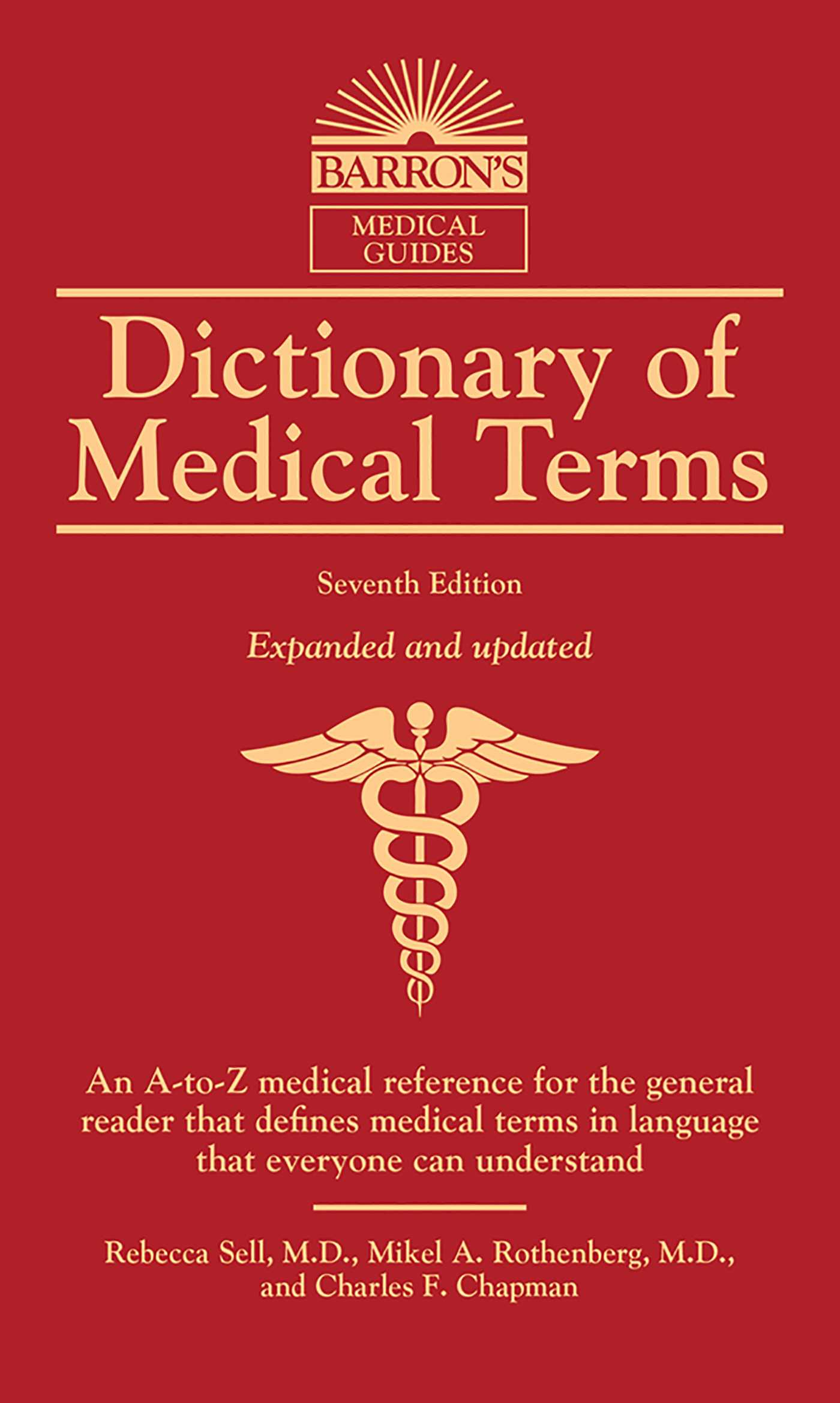Dictionary Of Medical Terms Book By Rebecca Sell Md Mikel A
