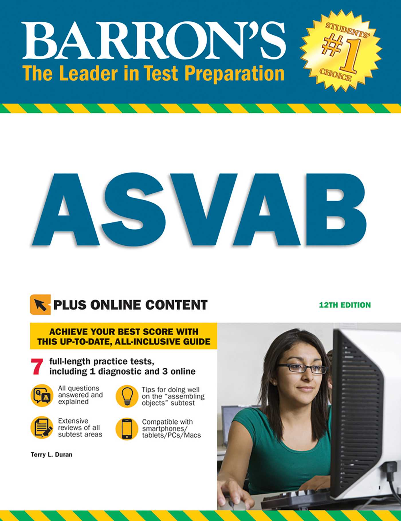 Barron's ASVAB | Book by Terry L  Duran Major U S  Army