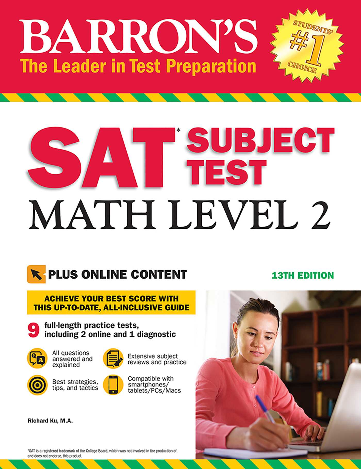 barrons sat subject test math level 2 14th edition