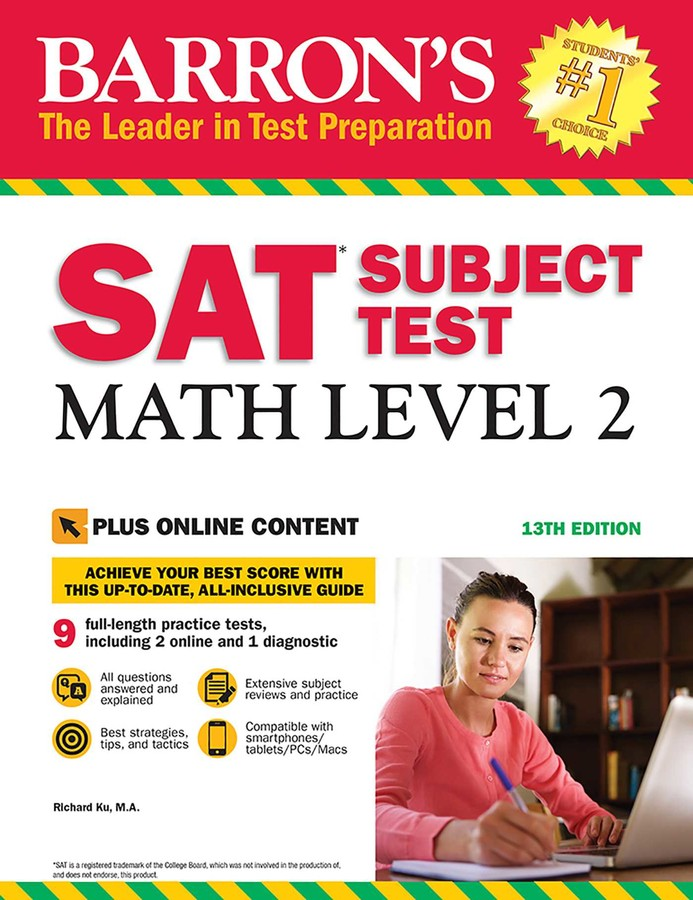 Barron's SAT Subject Test: Math Level 2 with Online Tests | Book by