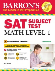 Barron's SAT Subject Test: Math Level 1