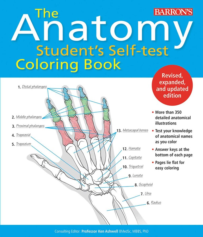 Anatomy Student's Self-Test Coloring Book Book By Ken Ashwell Ph.D.  Official Publisher Page Simon & Schuster