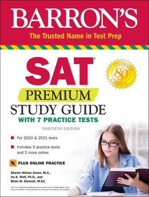 SAT Premium Study Guide with 7 Practice Tests | Book by Sharon
