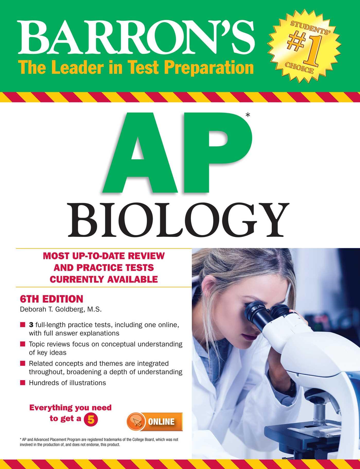 Barron's AP Biology eBook by Deborah T  Goldberg M S  | Official