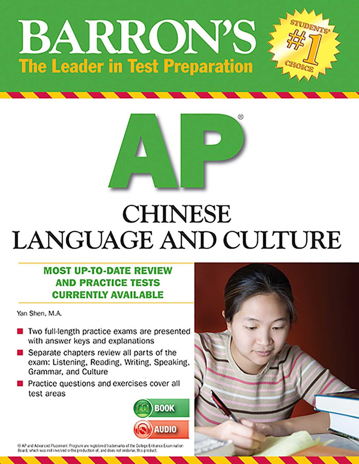 Barron's AP Chinese Language and Culture with MP3 CD | Book by Yan