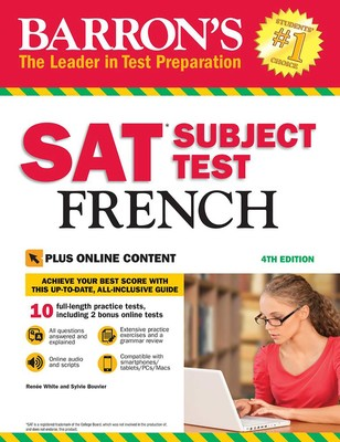 Barron's SAT Subject Test French with Online Tests   Book by