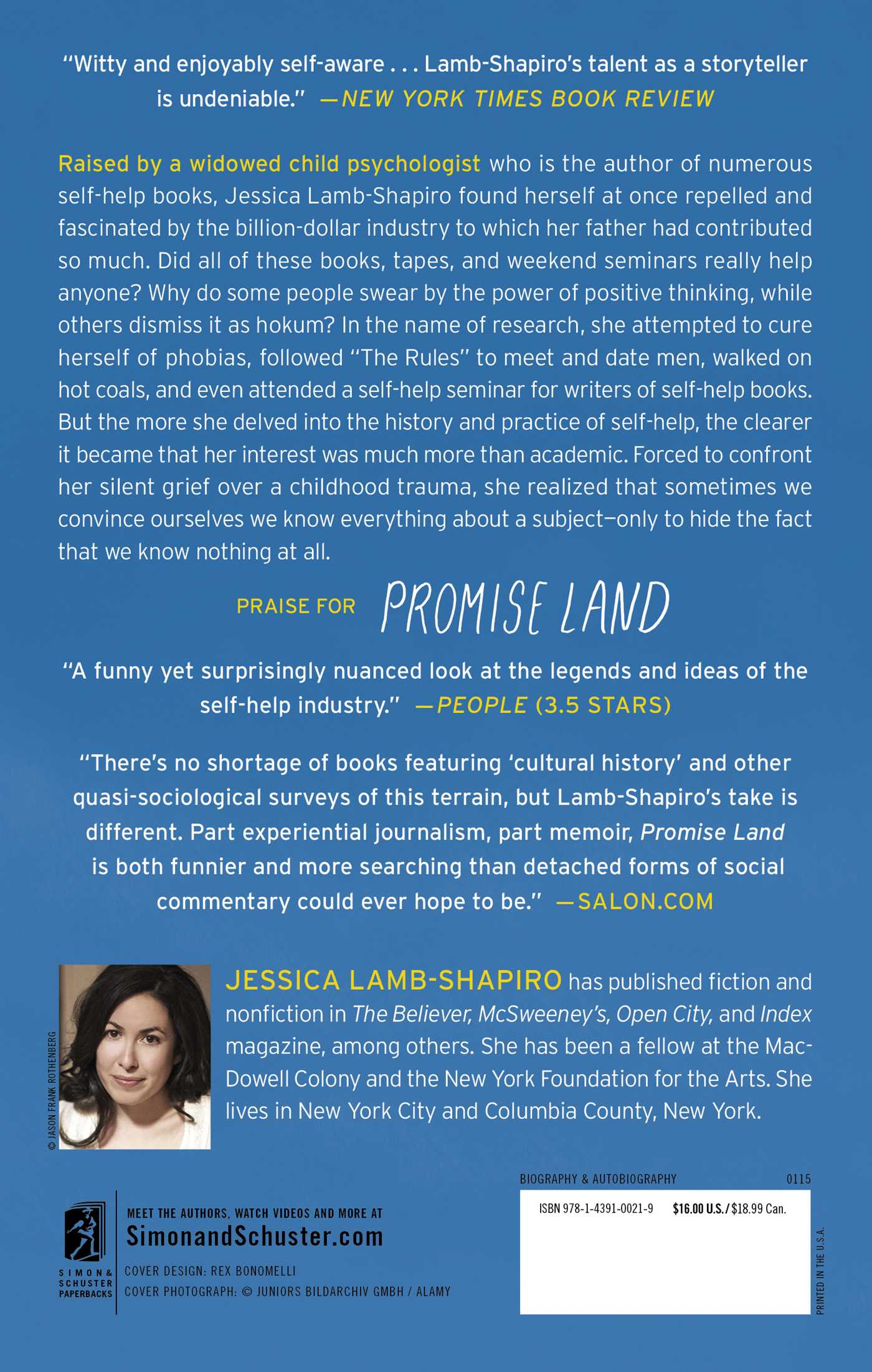 Promise land 9781439100219 hr back