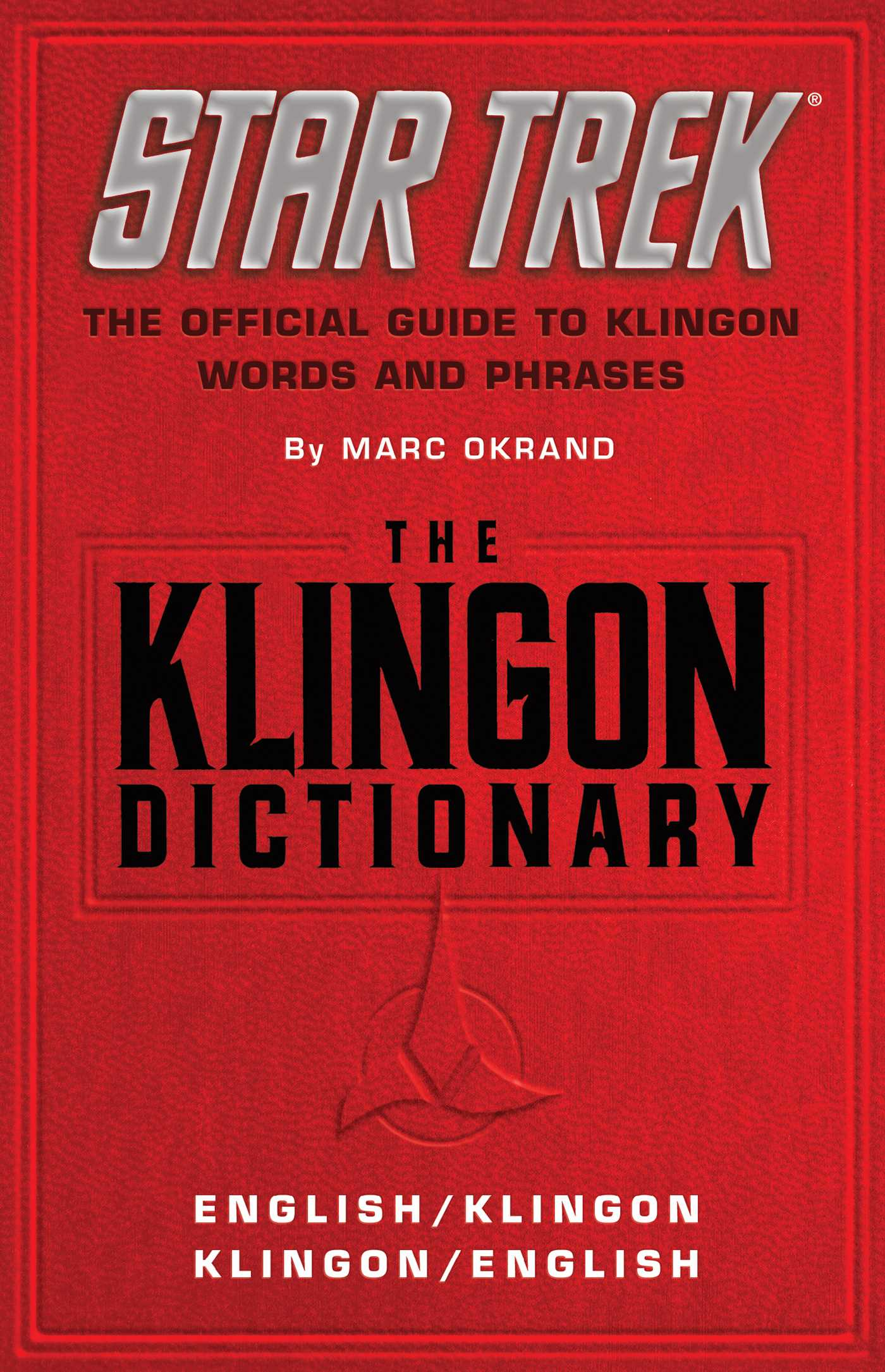 The klingon dictionary 9781439108529 hr