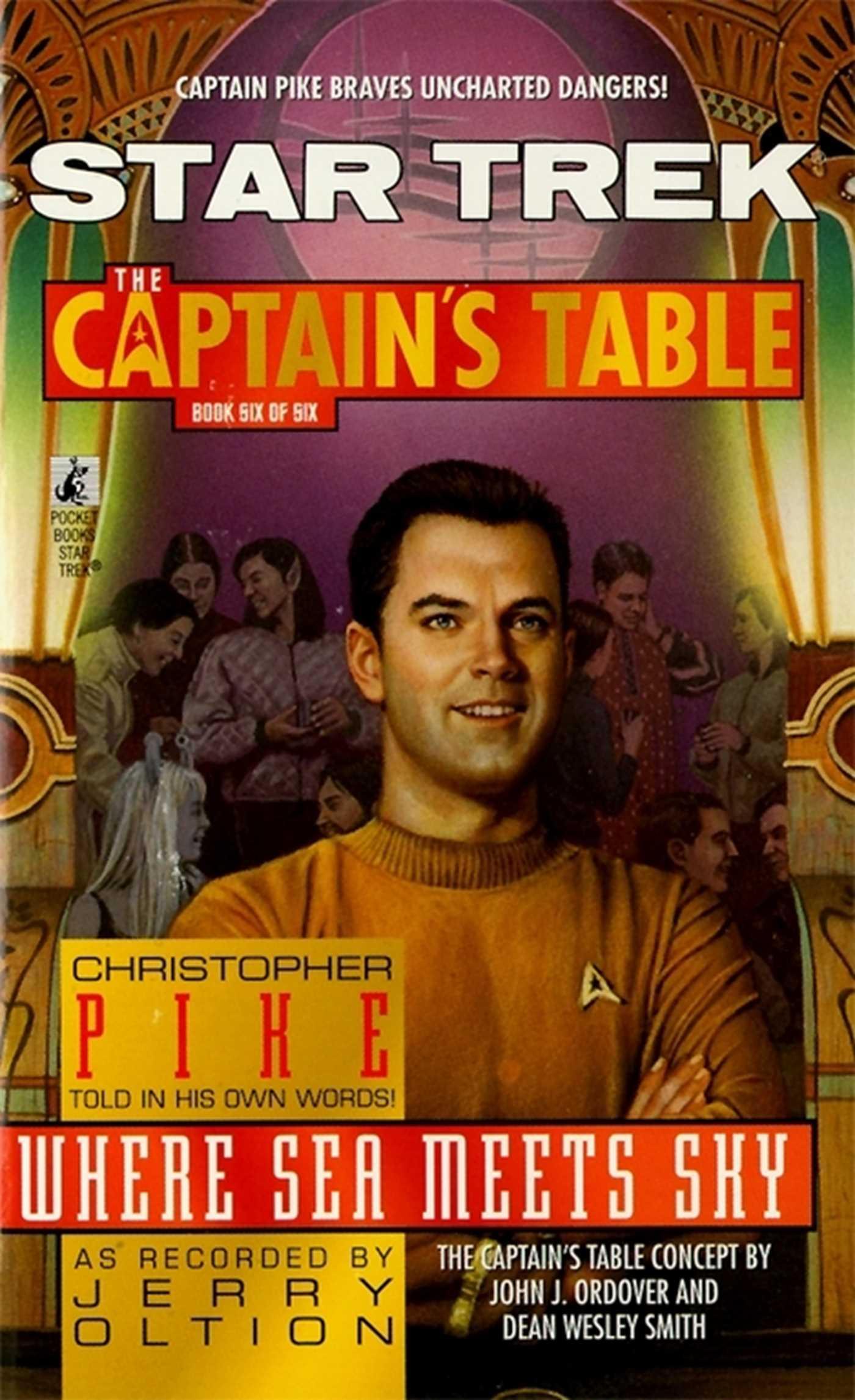 Star trek the captains table 6 christopher pike where sea meets sky 9781439108536 hr