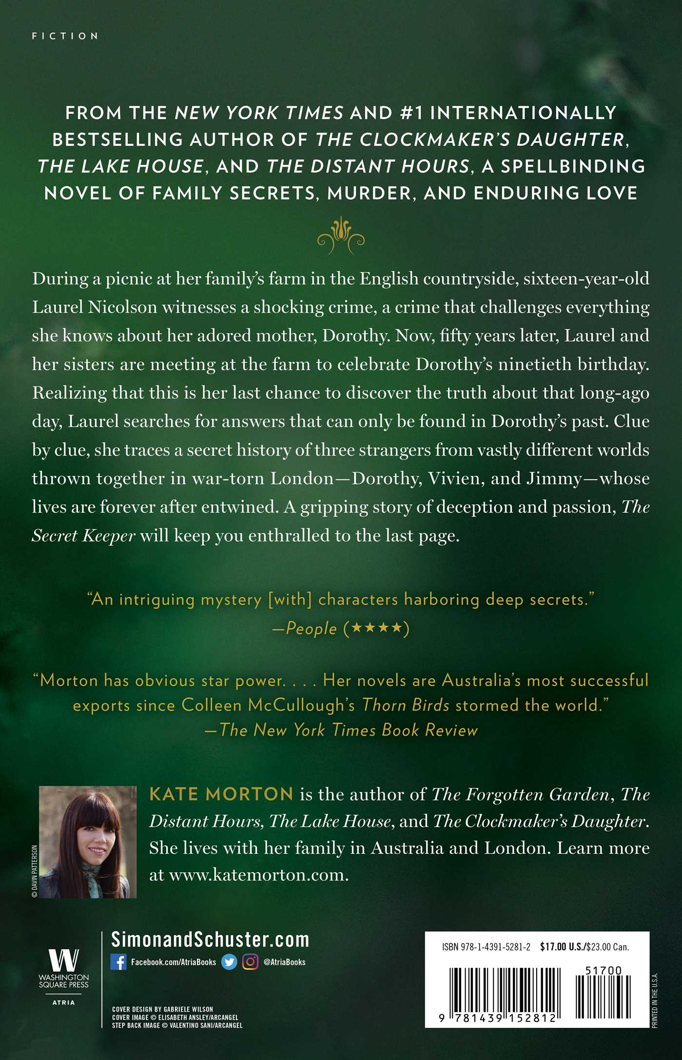 the secret keeper book by kate morton official publisher page rh simonandschuster com