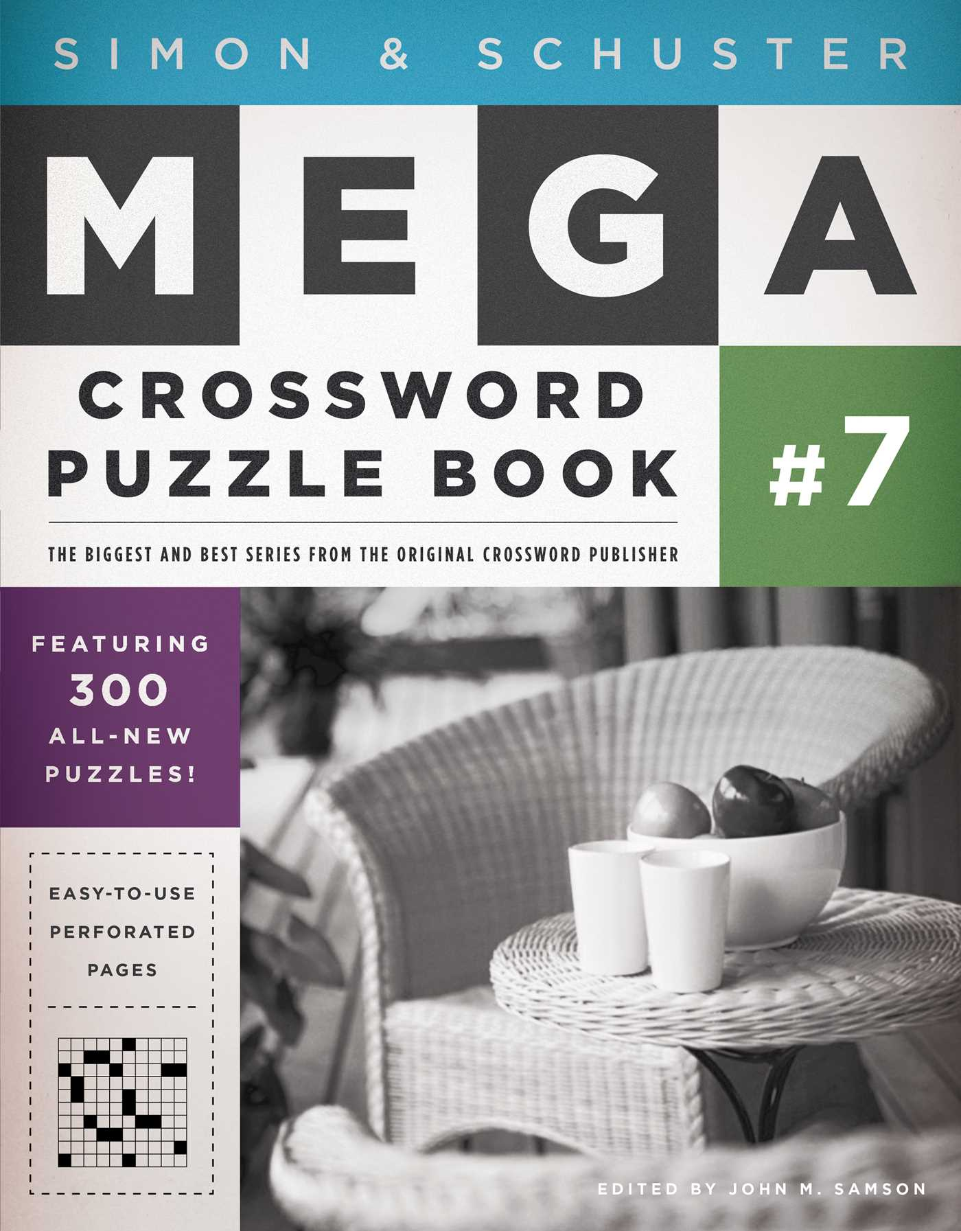 Simon schuster mega crossword puzzle book 7 9781439158074 hr