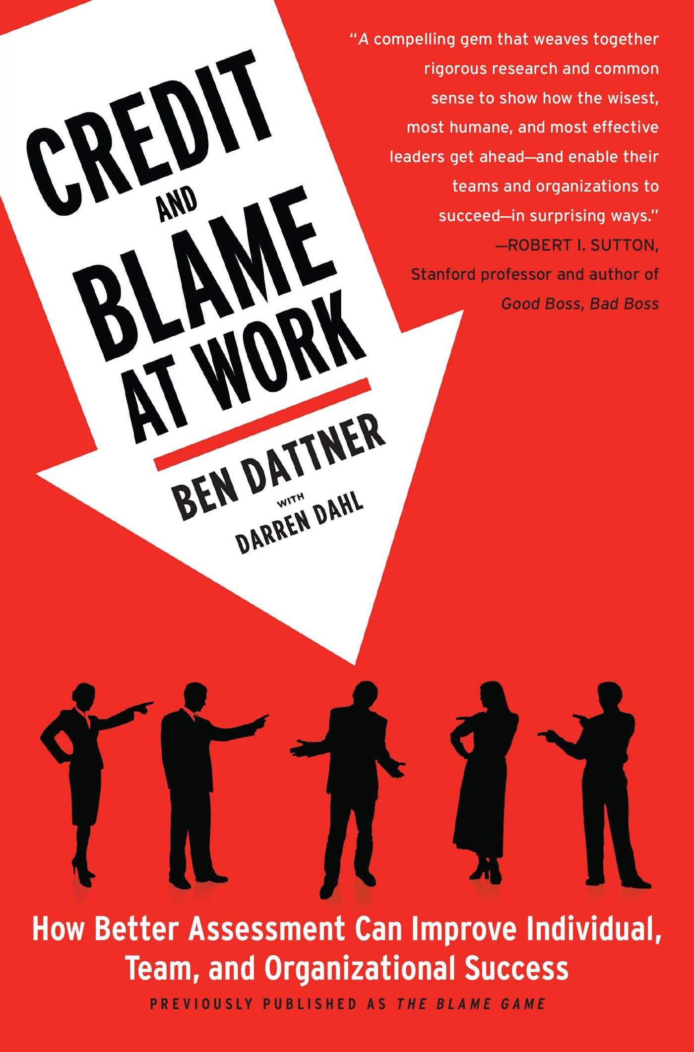 Credit and blame at work 9781439169582 hr