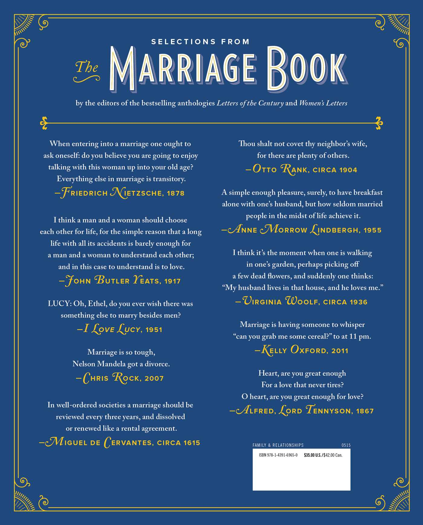 Marriage book 9781439169650 hr back