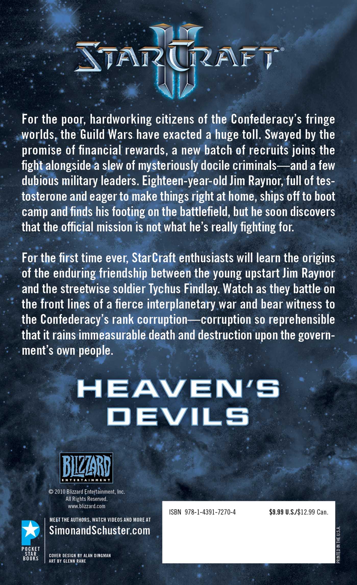 Starcraft ii heavens devils 9781439172704 hr back