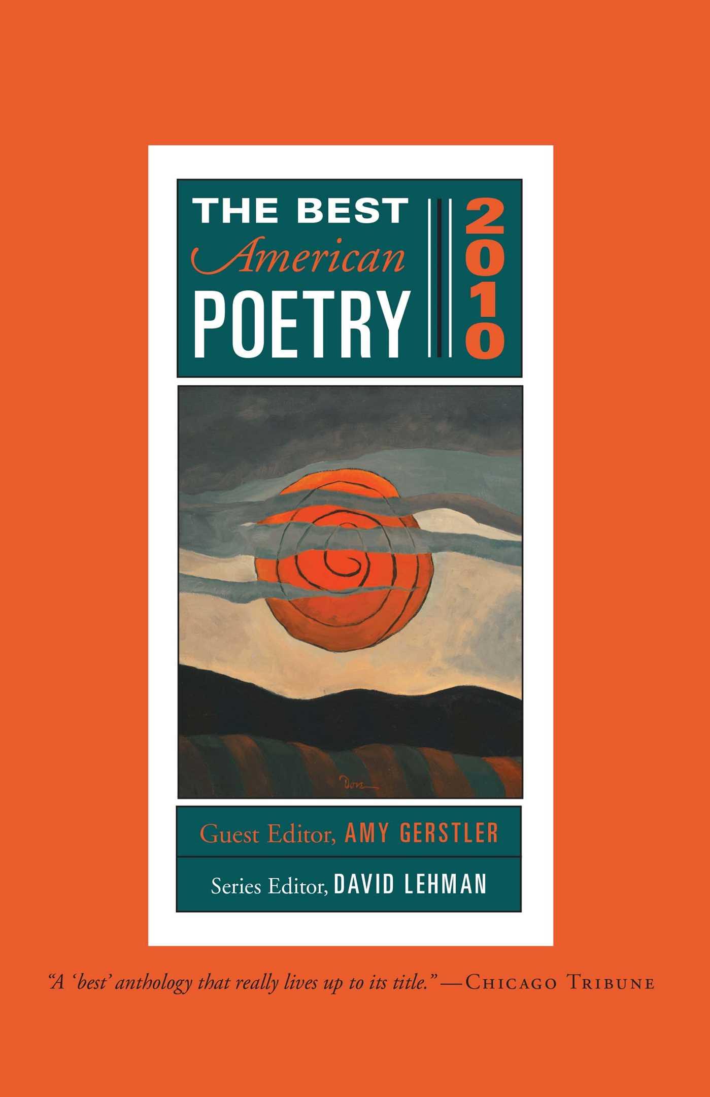 The best american poetry 2010 9781439181454 hr